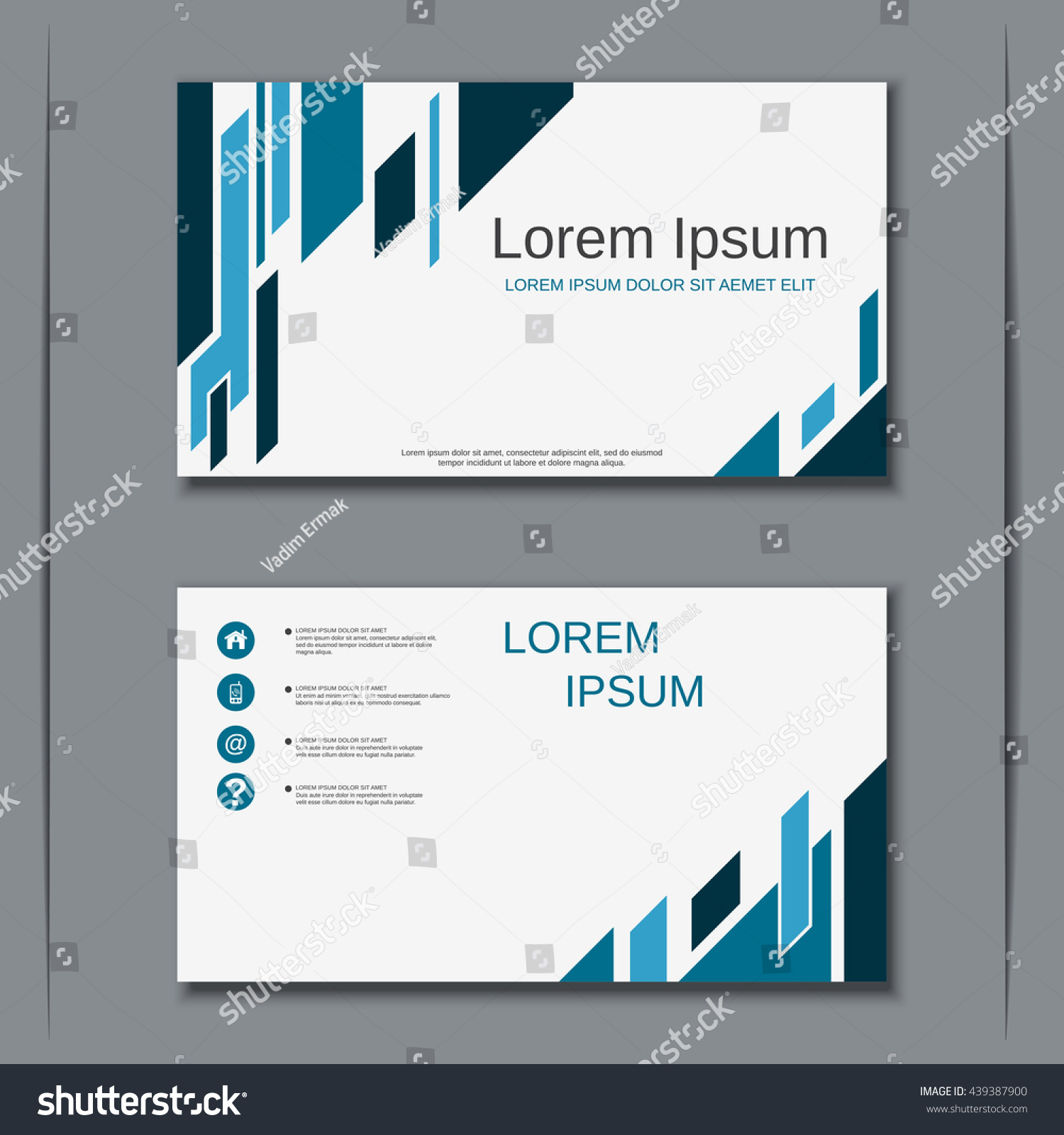 Modern Business Visiting Card Vector Design Stock Vector 439387900 ...
