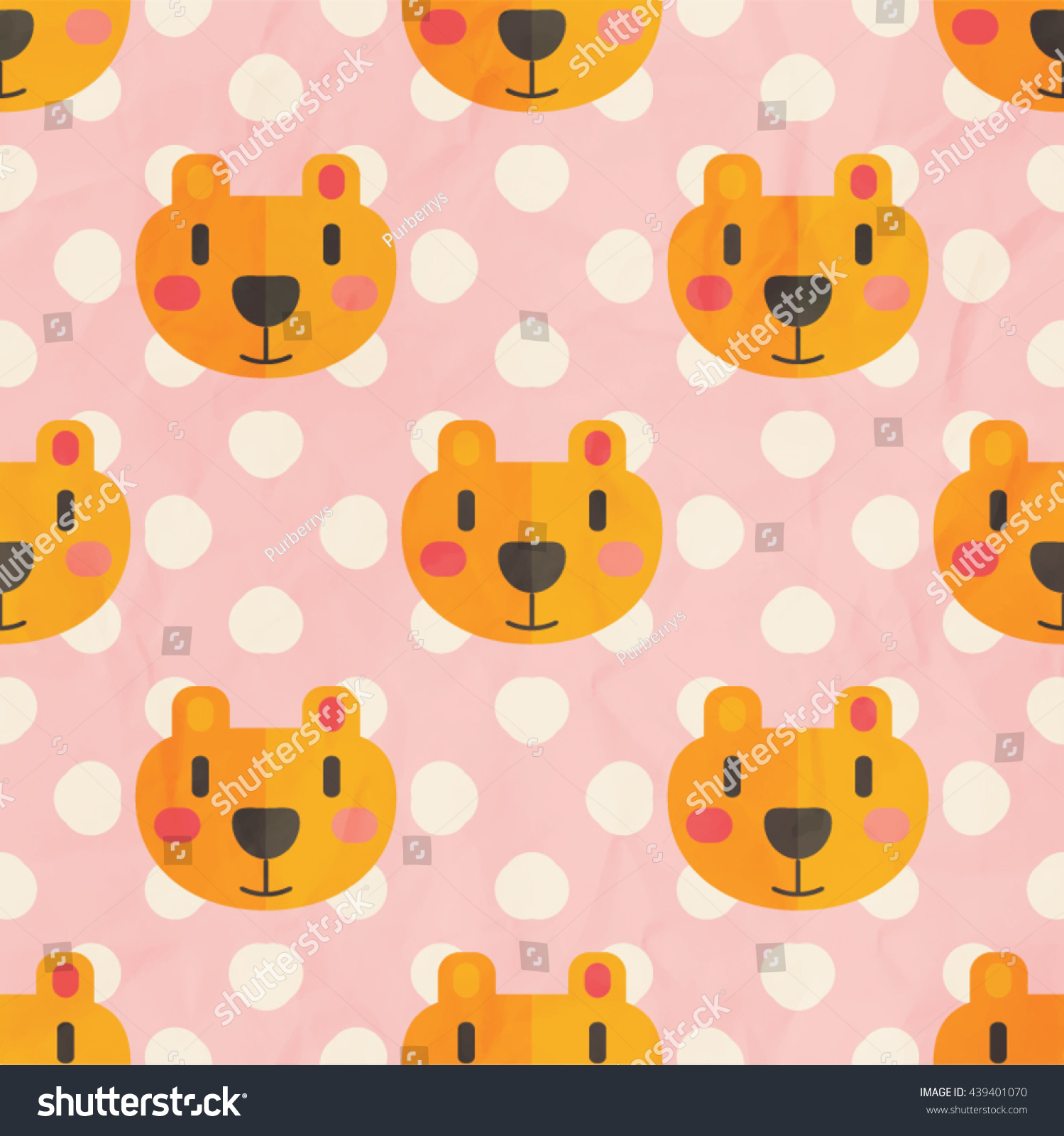 childish pattern kids wallpaper seamless background stock vector
