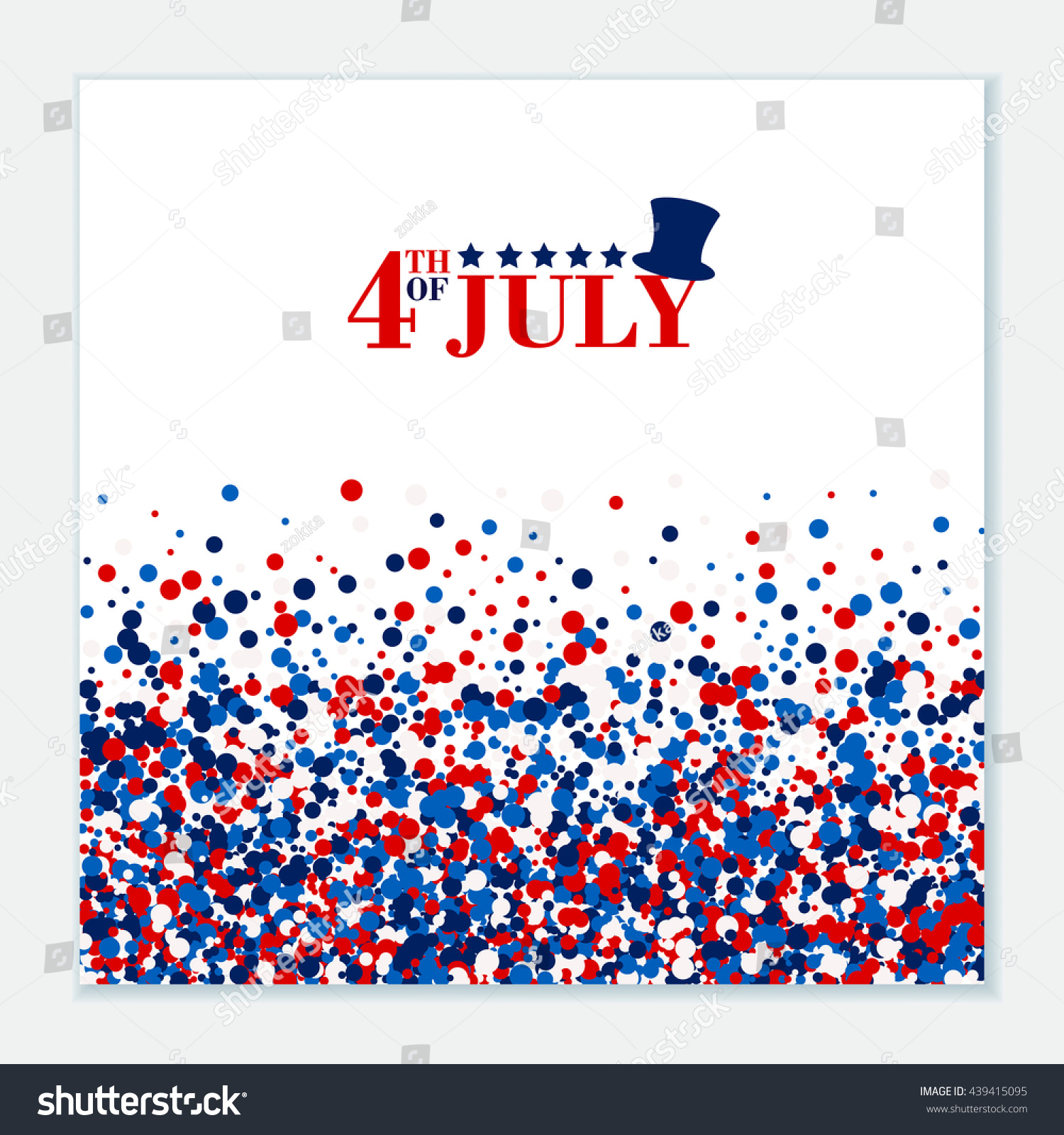4th july festive greeting card top stock vector 439415095 shutterstock 4th of july festive greeting card with top hat stars american happy independence day kristyandbryce Images