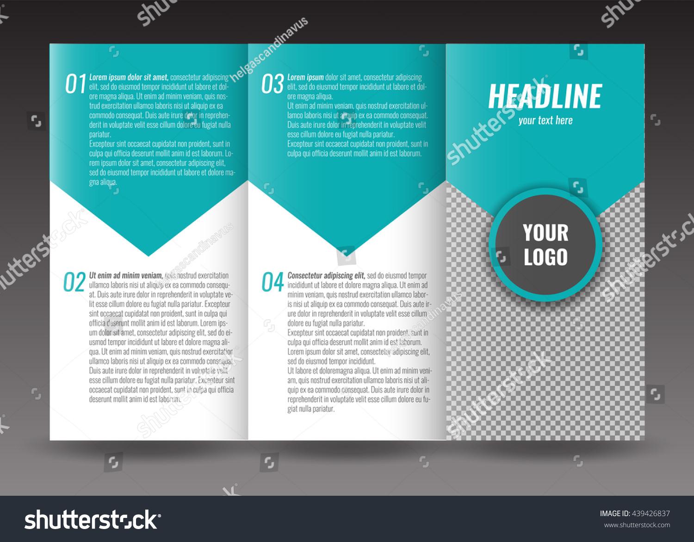 corporate trifold brochure template design world stock vector 439426837