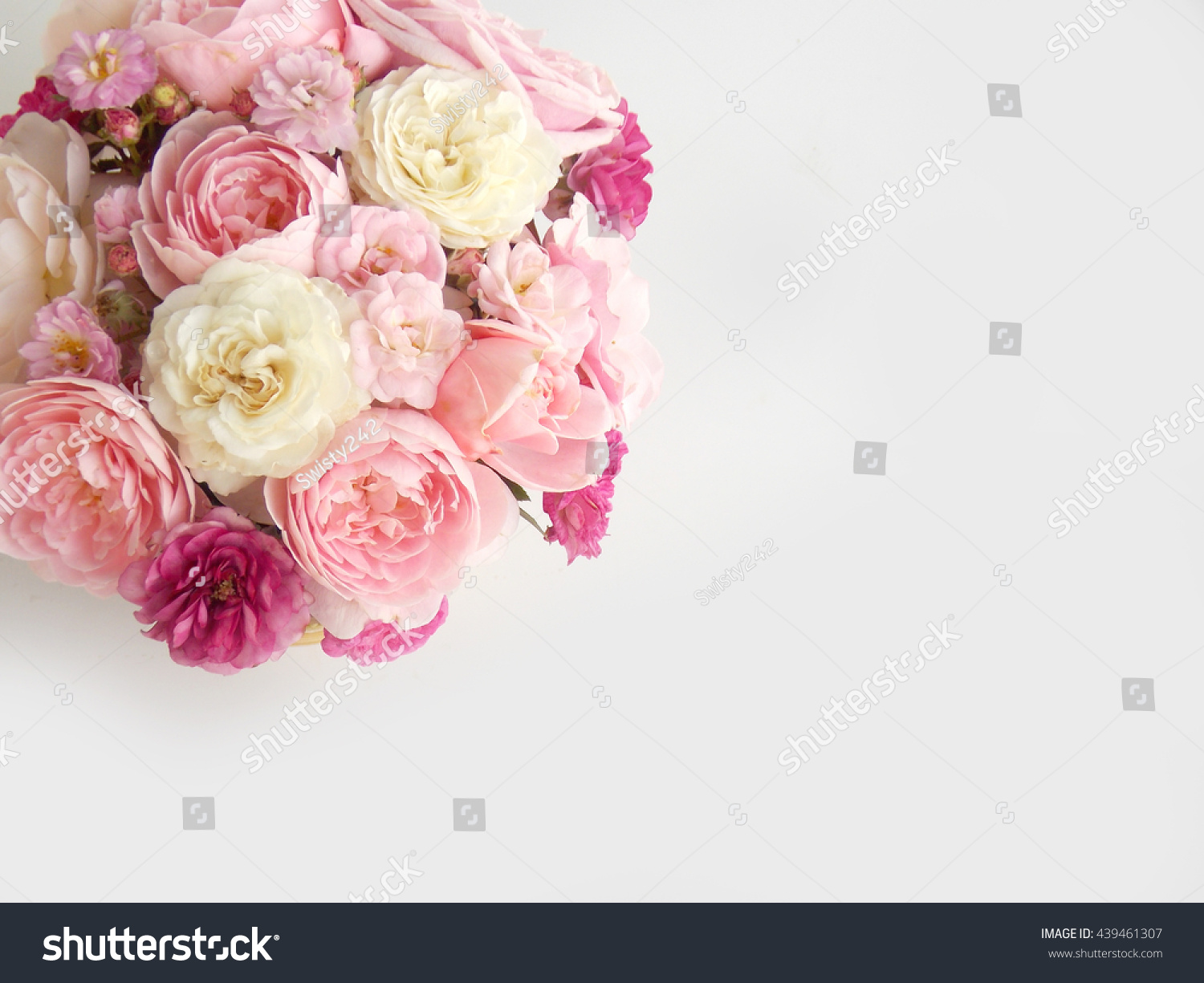 Beautiful Pink Rose Flower Bouquet Background Stock Photo (Edit Now ...