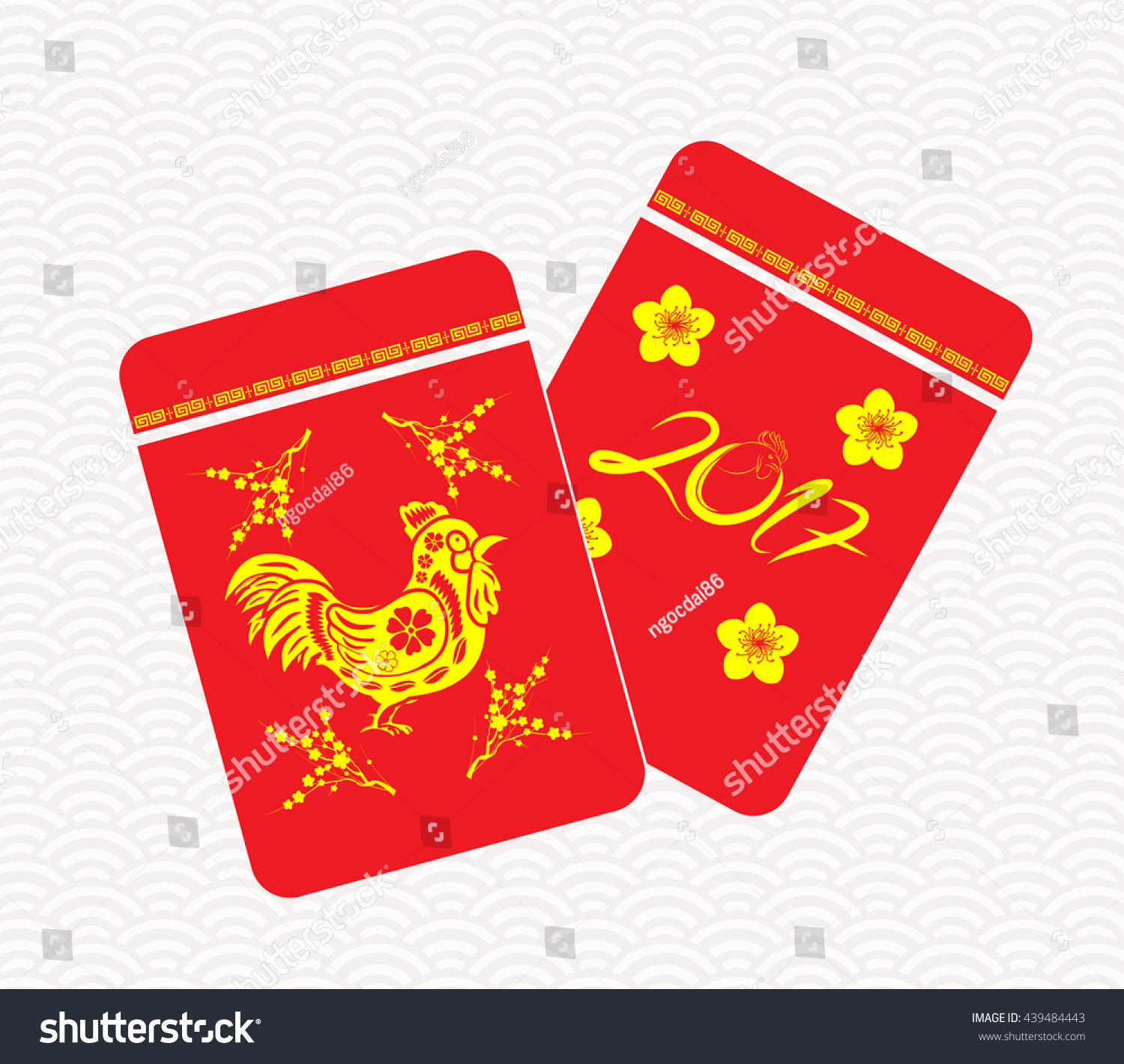 Chinese New Year Rooster Packets. Best Luck Ahead The Year Of Rooster ...
