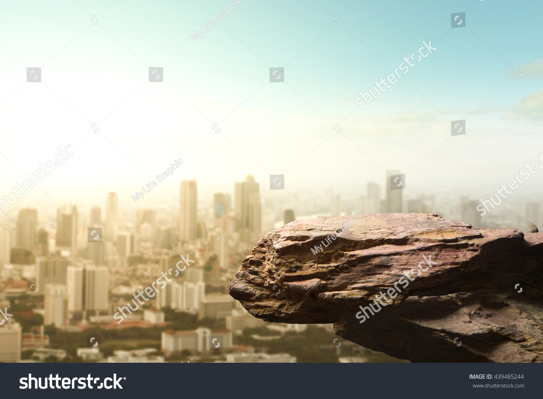 Blank Space Cliff Edge On Modern Stock Photo 439485244