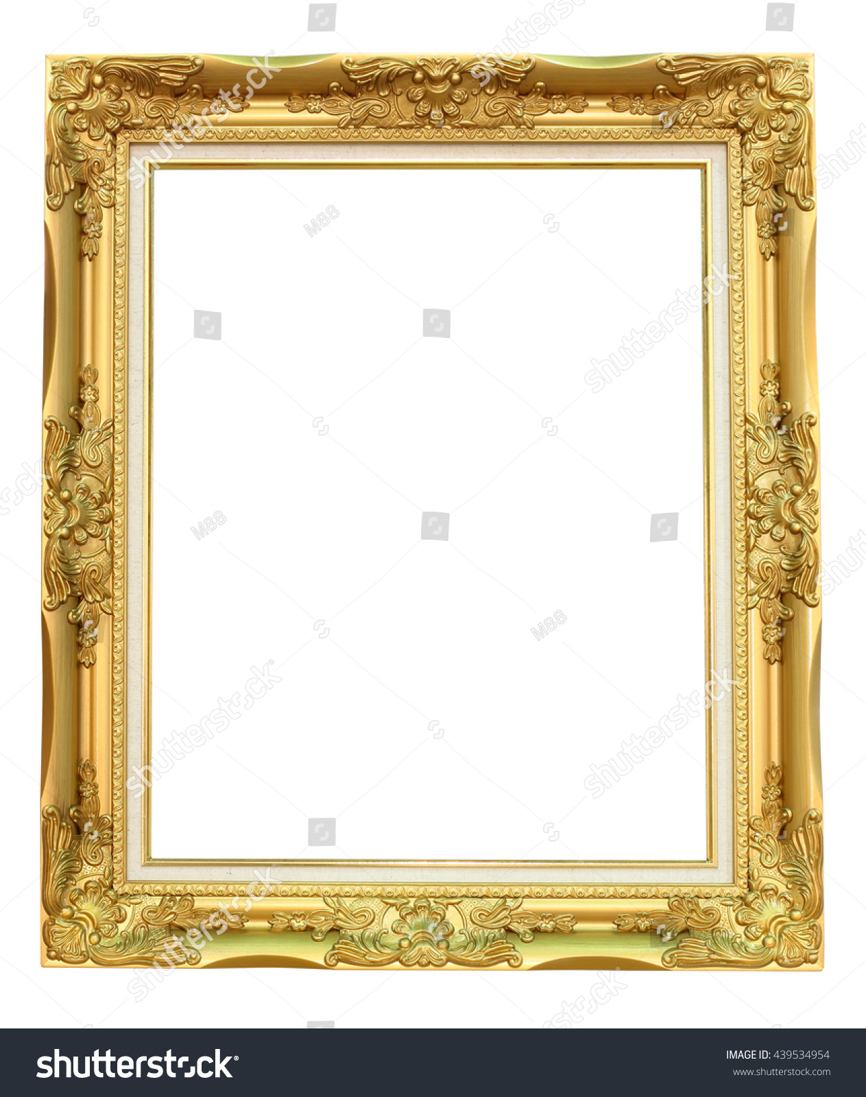 Wooden Gold Vintage Frame Painting Picture Stock Photo (Edit Now ...