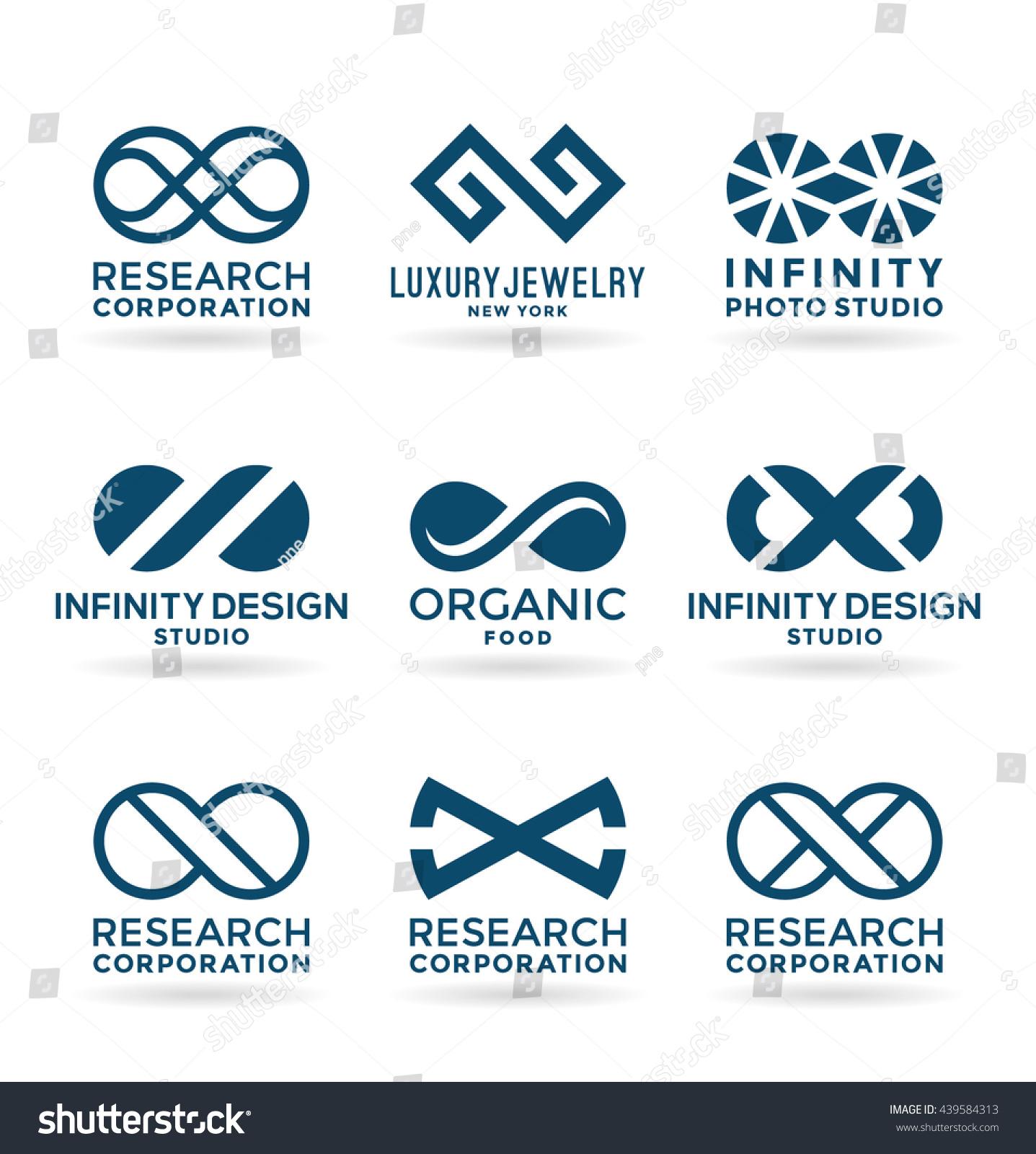Set various infinity symbols logo design stock vector 439584313 set of various infinity symbols and logo design elements 9 buycottarizona Choice Image