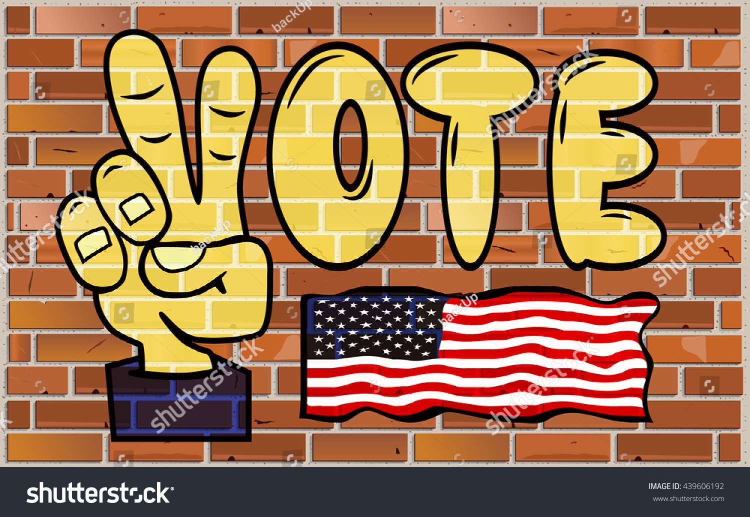 Graffiti VOTE Word On Brick Wall Stock Illustration 439606192 ...