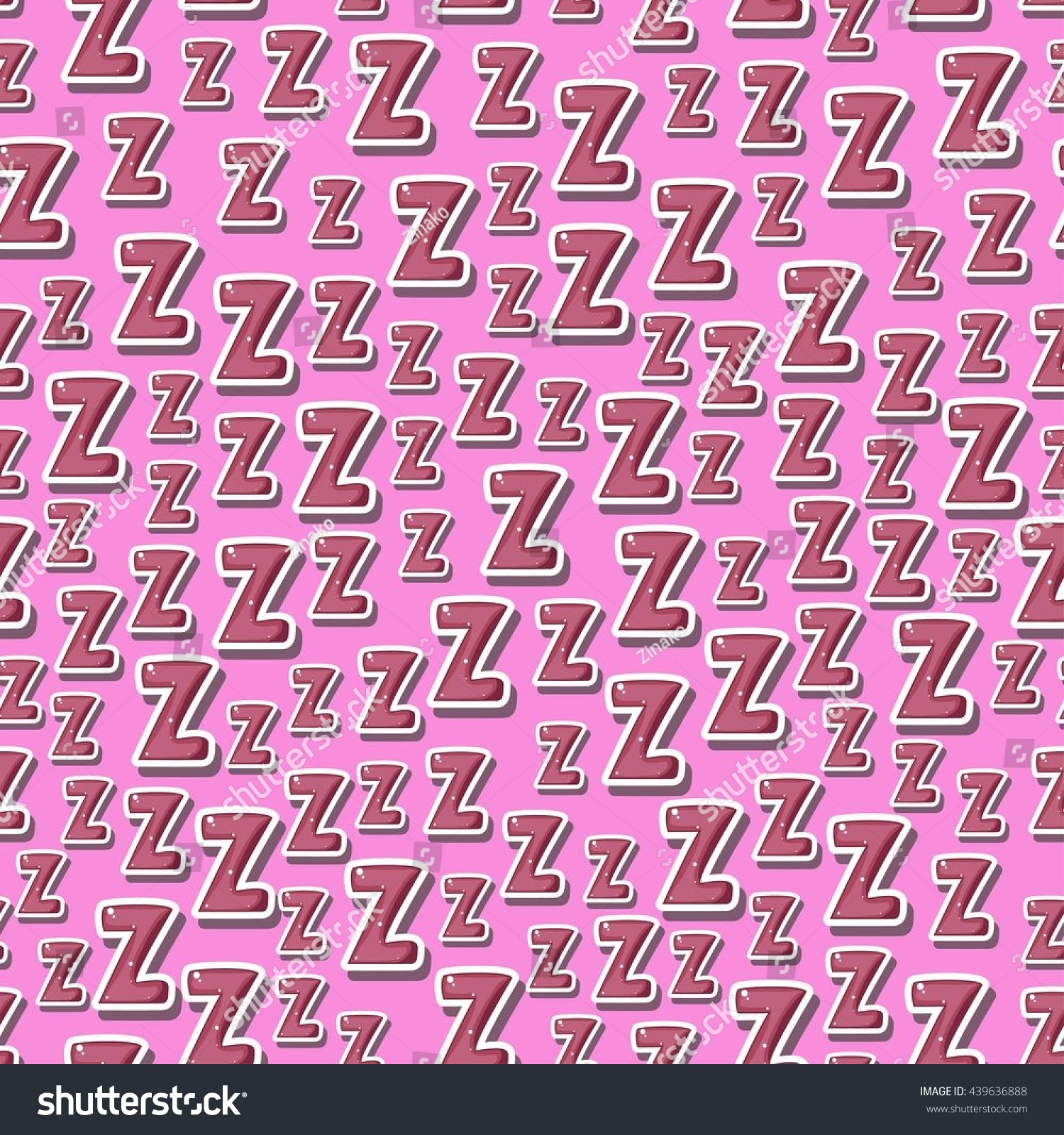 Seamless Childish Pattern Letters Z Zzz Stock Vector (Royalty Free ...