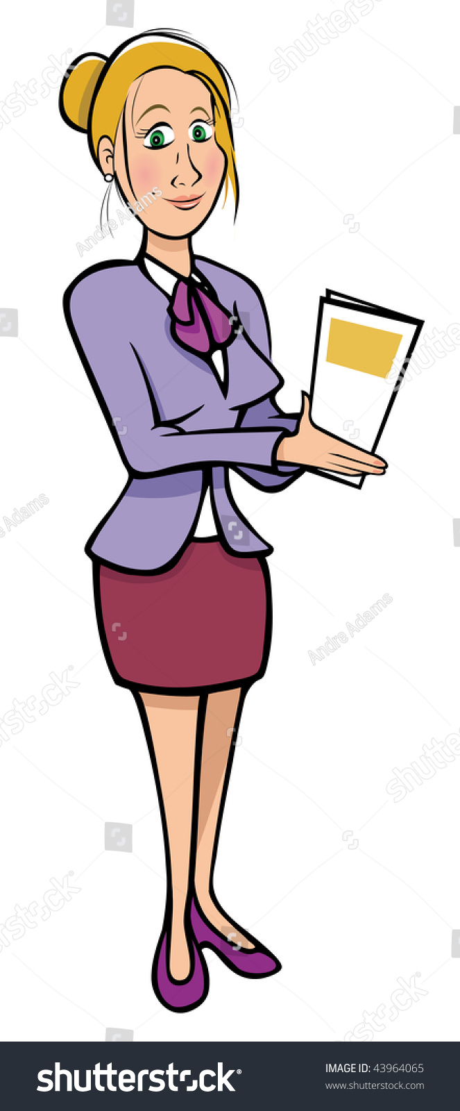 Cartoon Vector Illustration Sexy Secretary Stock Vector -5521