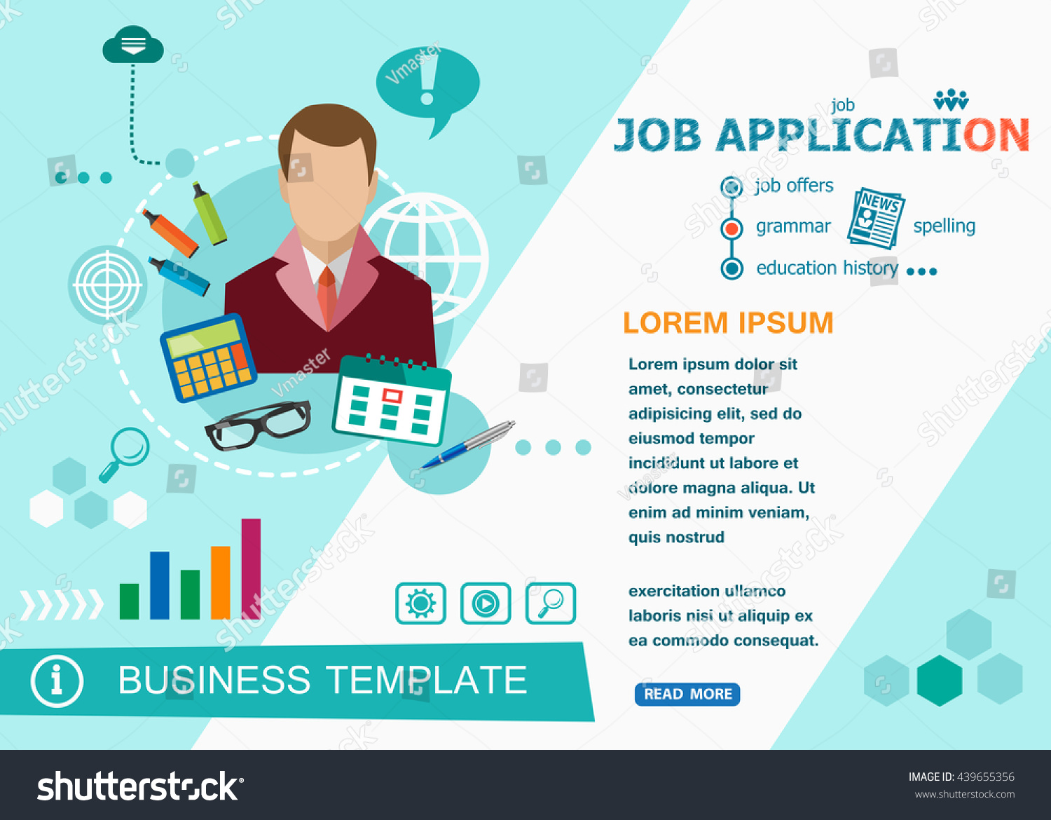 Job Application Design Concepts Words Learning Stock Vector Royalty Free 439655356