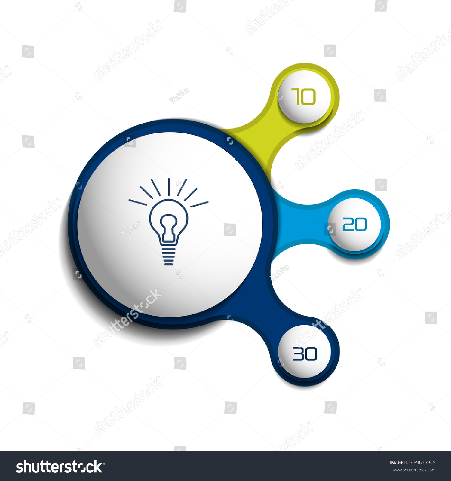 Three steps elements bubble chart scheme stock vector 439675945 three steps elements bubble chart scheme diagram infographic template ccuart Images