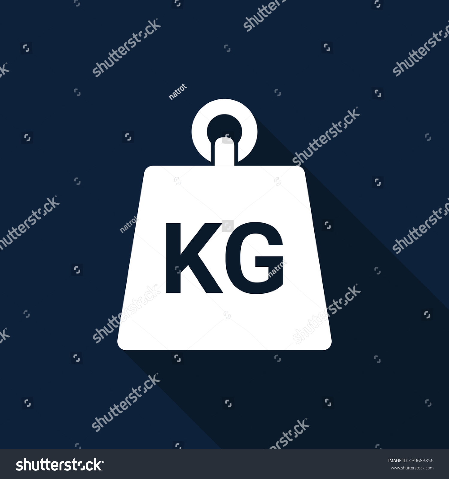 Weight Kilogram Icon Vector Stock Vector 439683856 Shutterstock