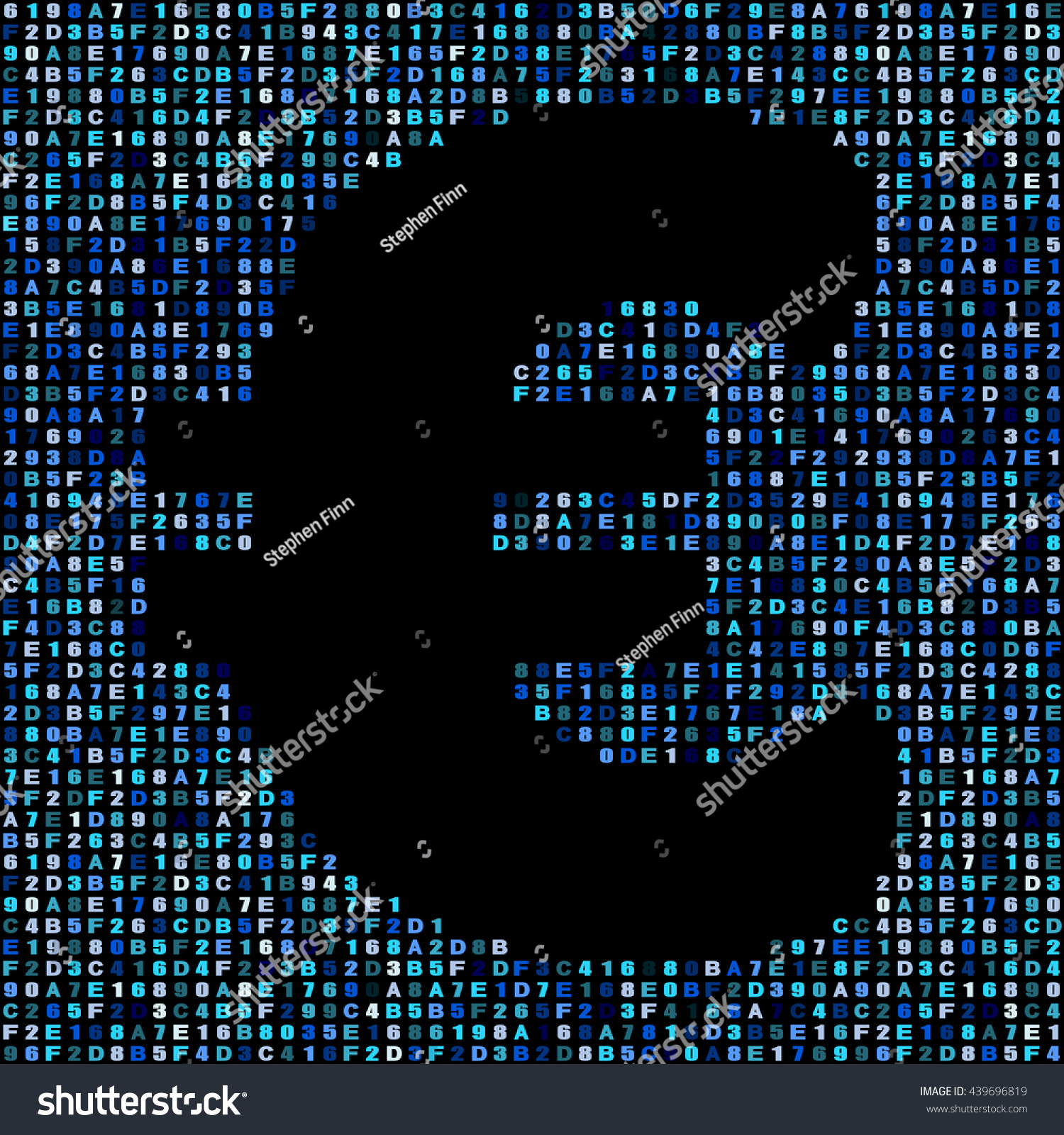 Euro Symbol On Blue Hex Code Stock Illustration 439696819 Shutterstock