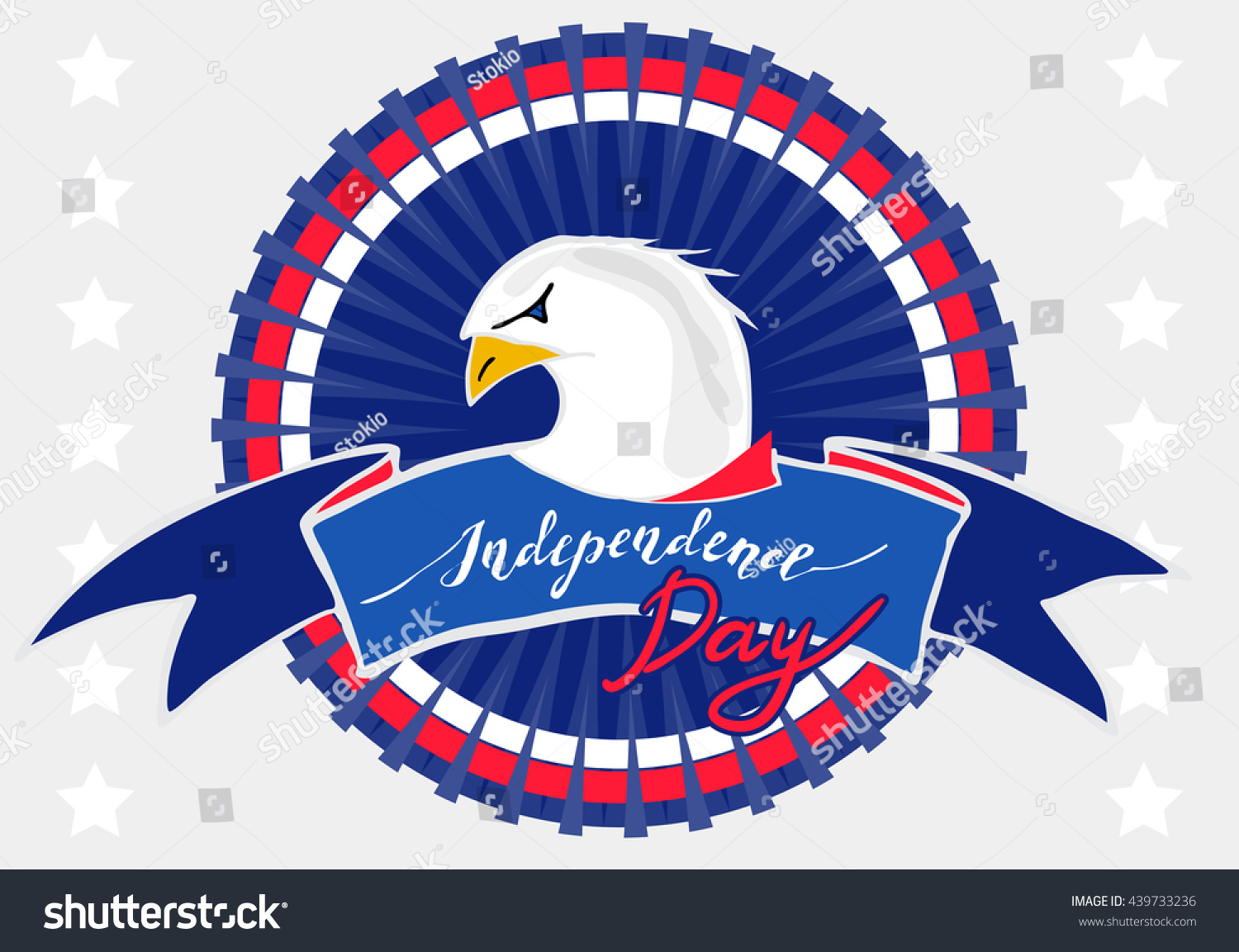 American Eagle Independence Day Patriotic Symbol Stock Vector