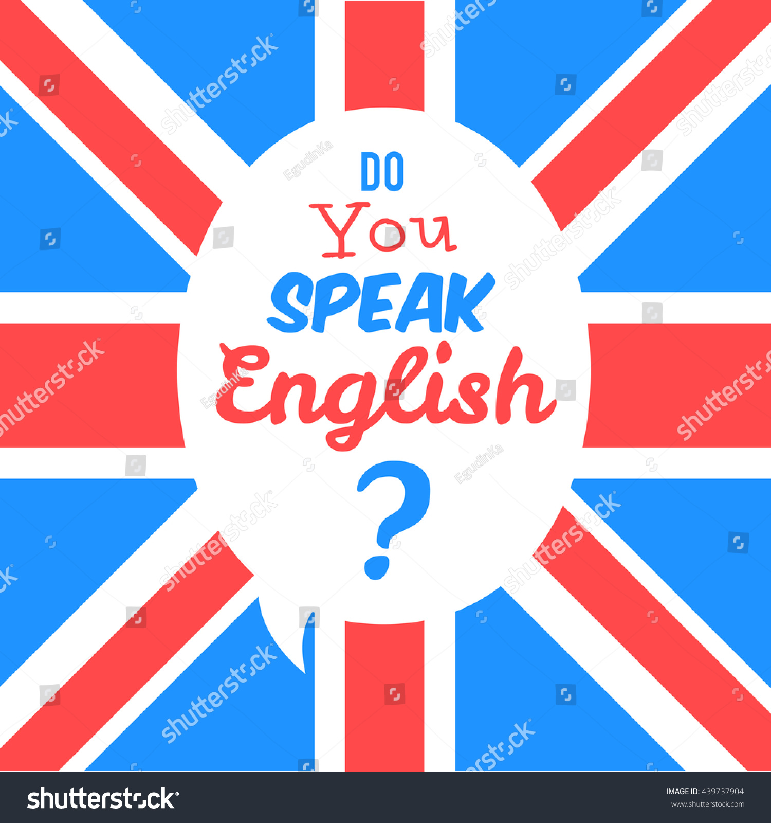 concept studying english do you speak stock vector 439737904