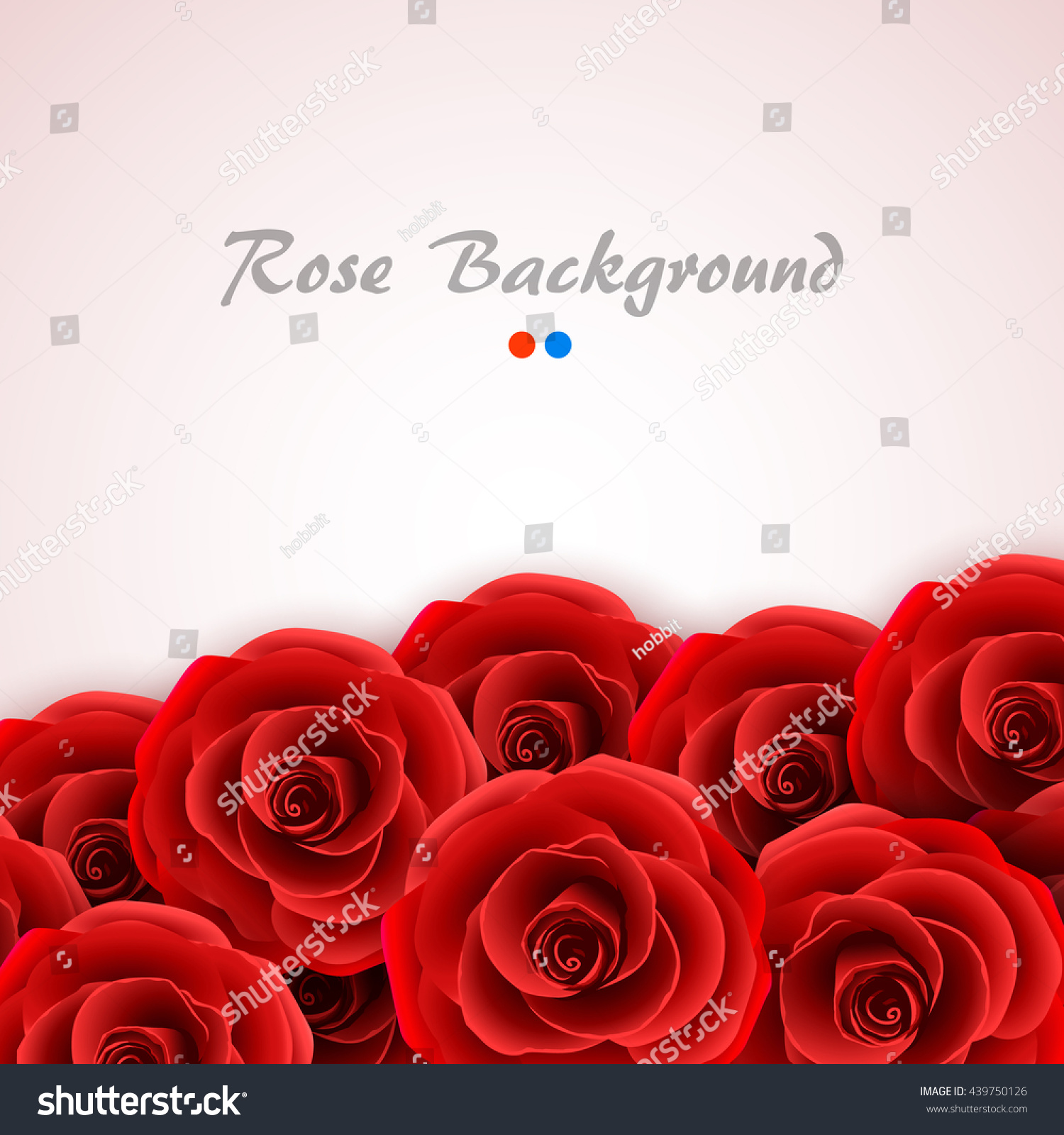 Red Roses Background Rose Cover Wedding Stock Vector HD (Royalty ...
