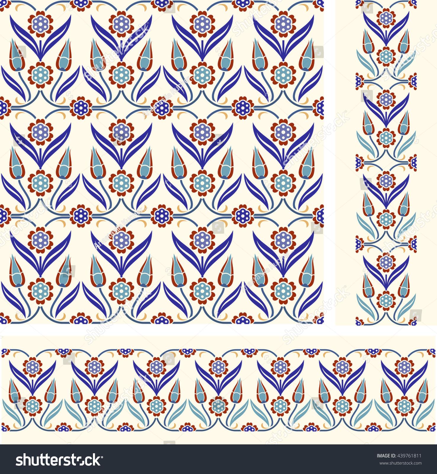 set seamless turkish colorful pattern endless stock vector set of seamless turkish colorful pattern endless pattern