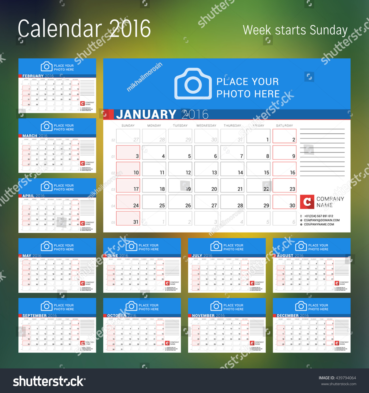 Calendar Pages Vector : Calendar year vector design print stock