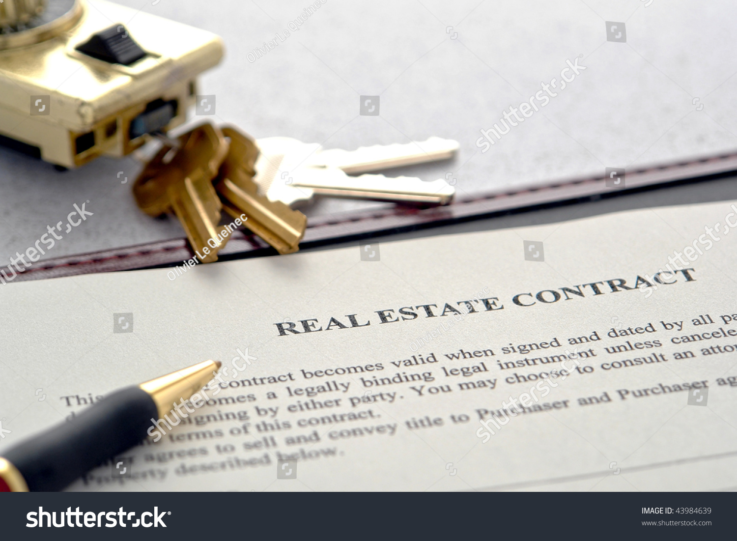 Real Estate Broker Sale Contract House Stock Photo 43984639 ...