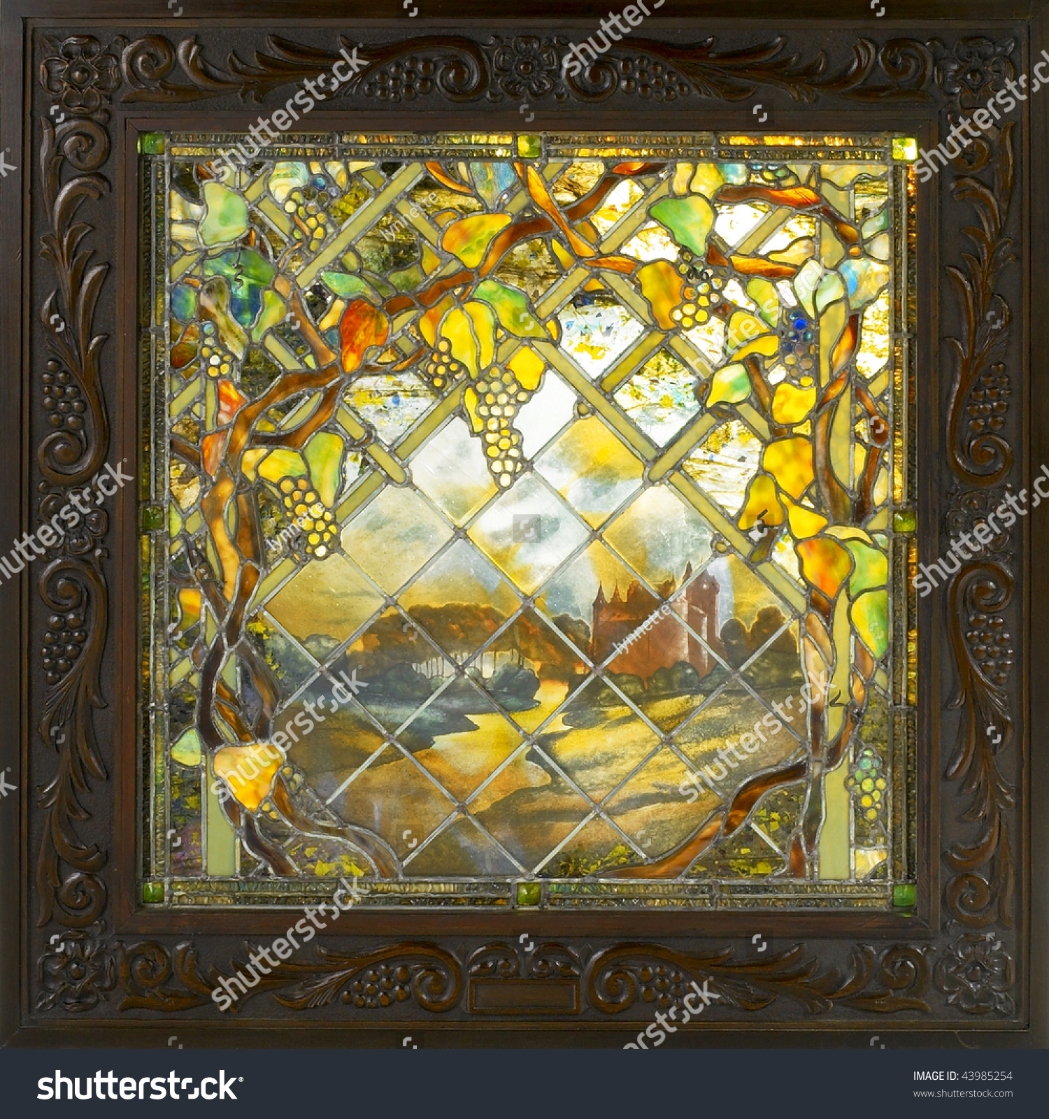 Art Deco Stained Glass Window Stock Photo (Royalty Free) 43985254 ...