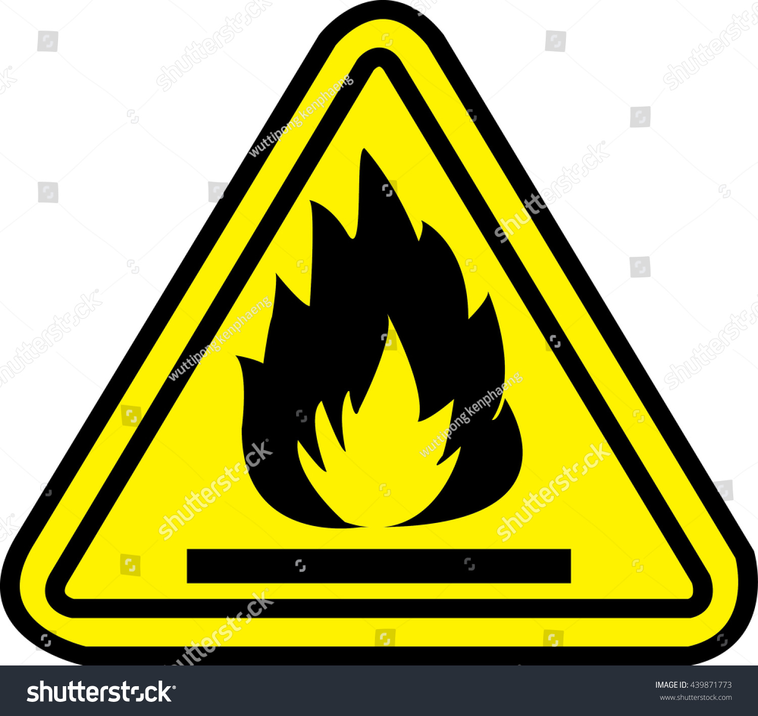 Highly flammable yellow warning sign stock vector 439871773 highly flammable yellow warning sign buycottarizona