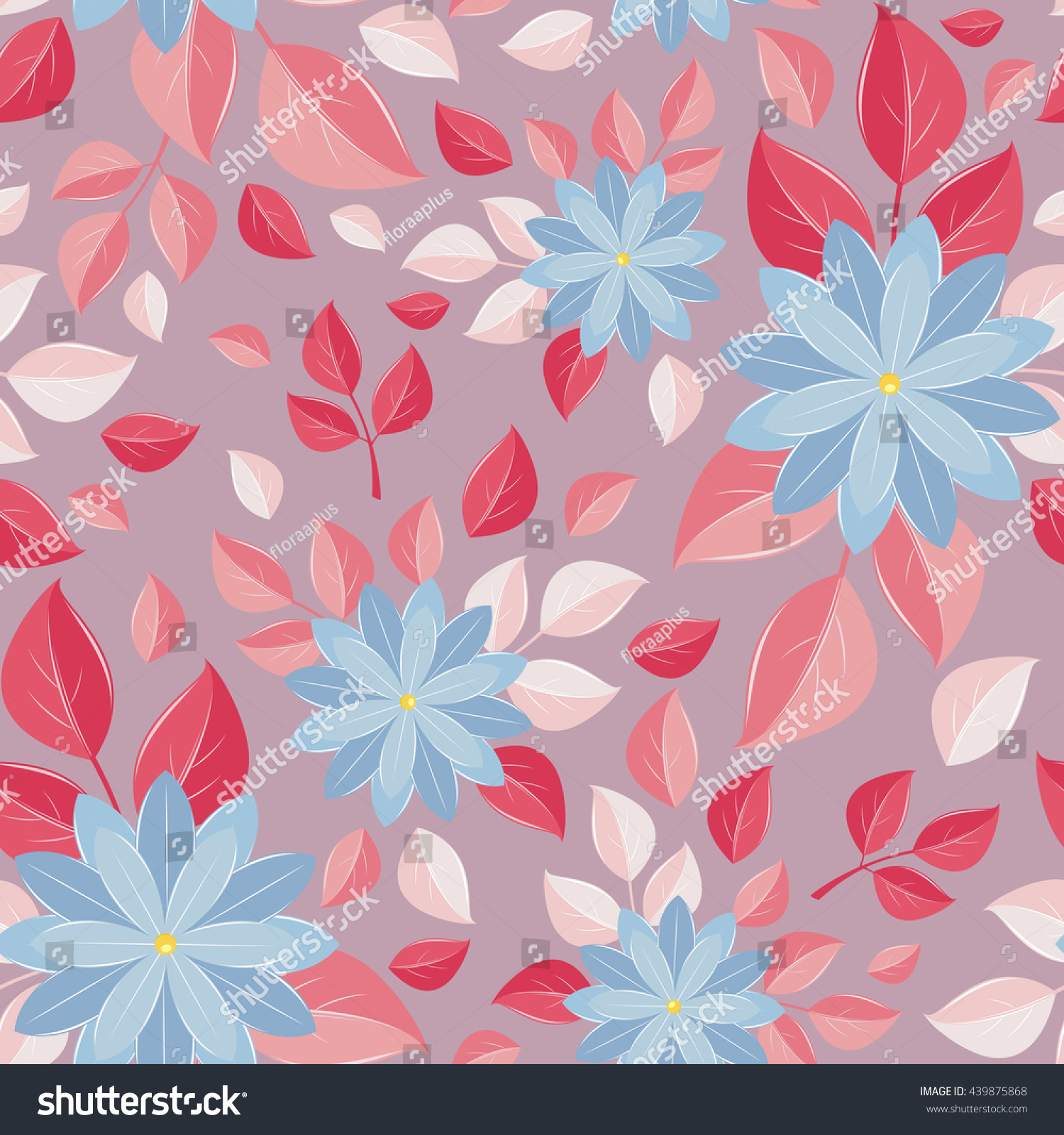 Seamless Wall Paper Decorative Flowers Black Background A Bright
