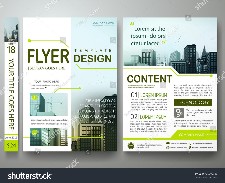 flyers design template vector green circuit stock vector royalty