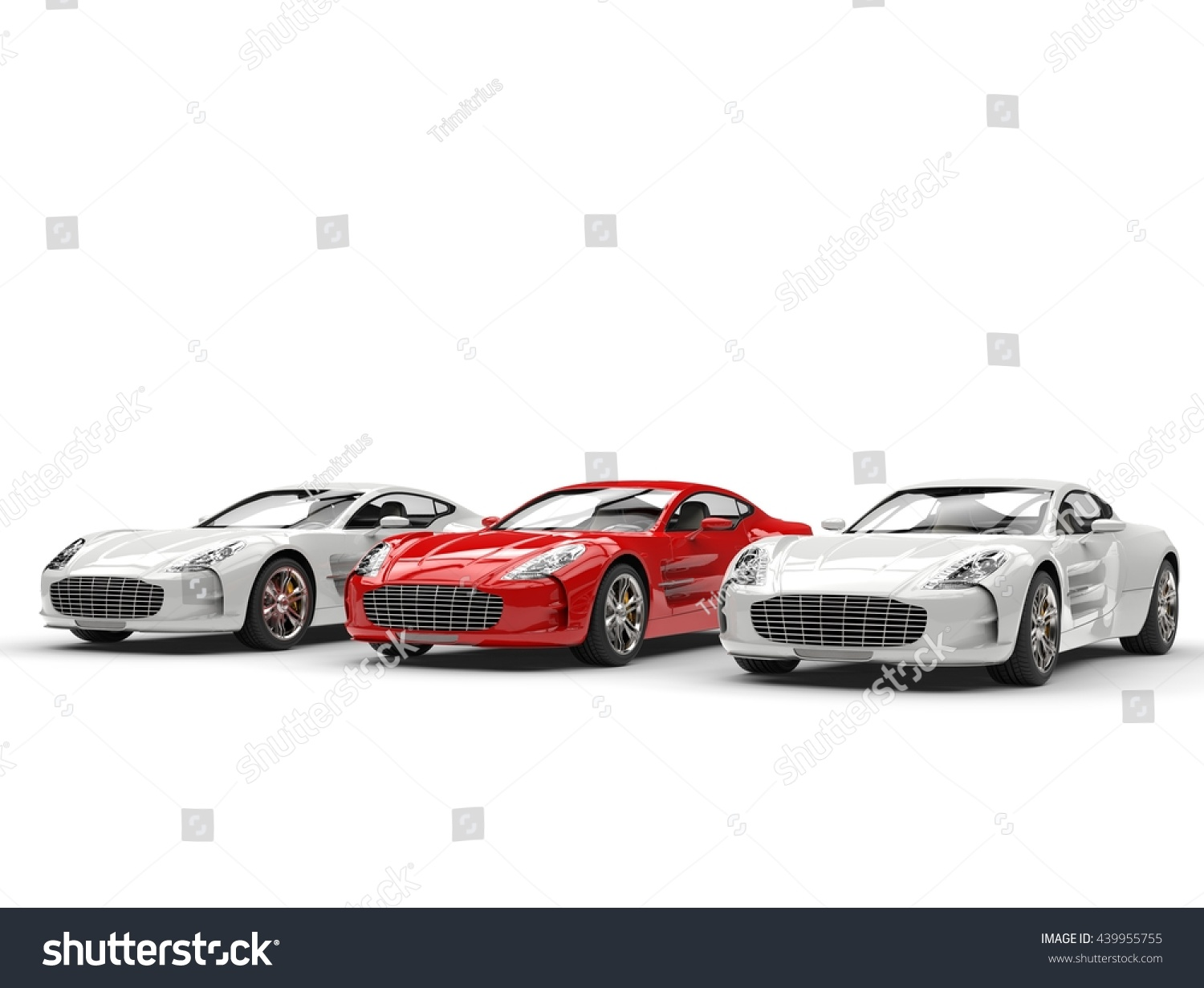 red sports car stands out 3d stock illustration 439955755. Black Bedroom Furniture Sets. Home Design Ideas