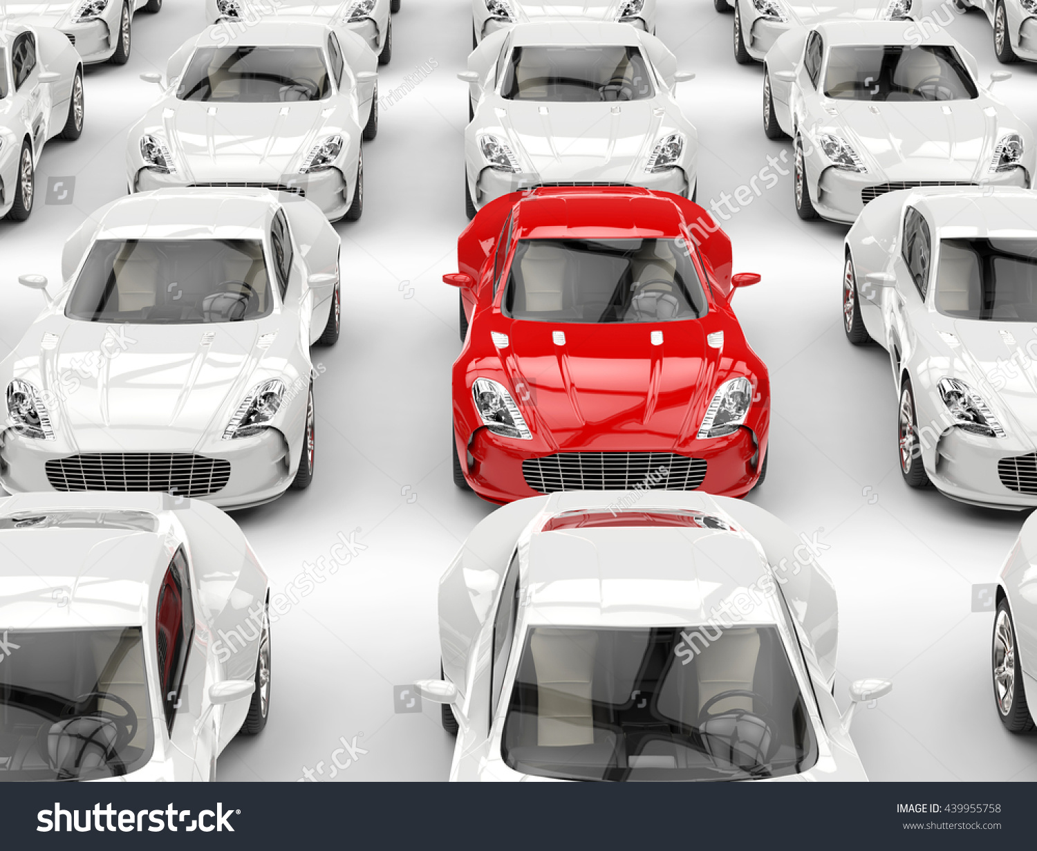 red sports car stands out crowd stock illustration. Black Bedroom Furniture Sets. Home Design Ideas