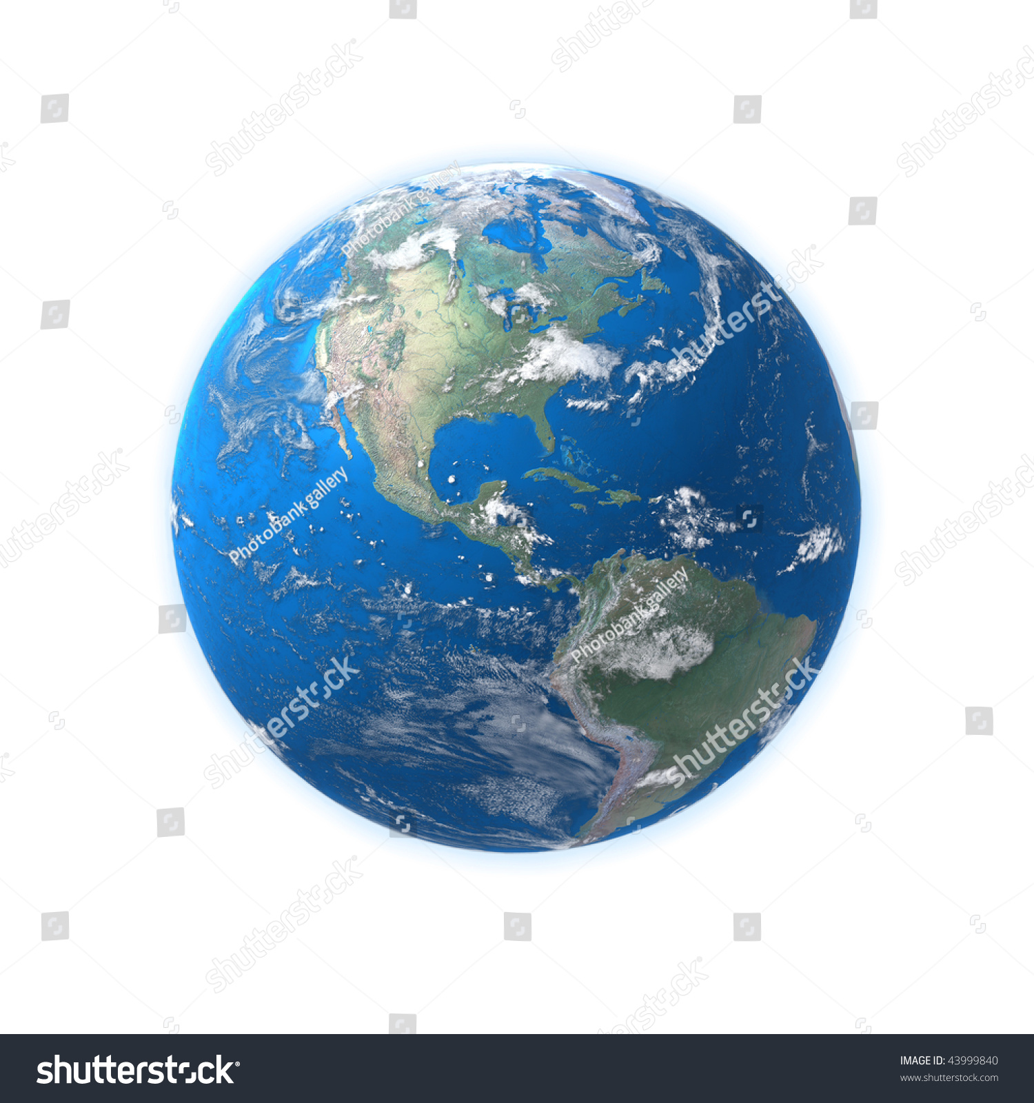 High Detailed Globe Map Central America Stock Photo - Usa globe map
