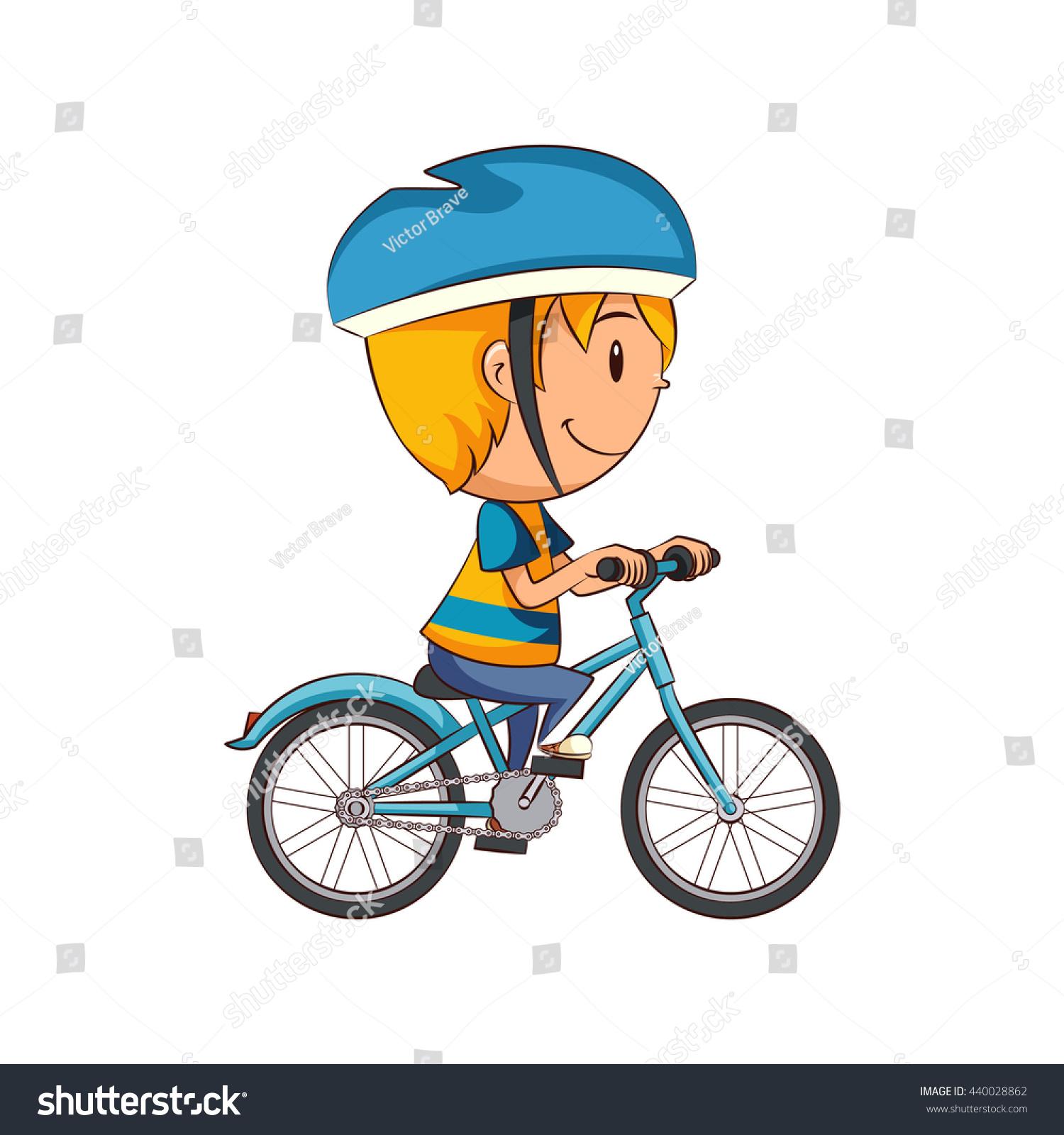 Similar Images Stock Photos Vectors Of Kid Riding Bike