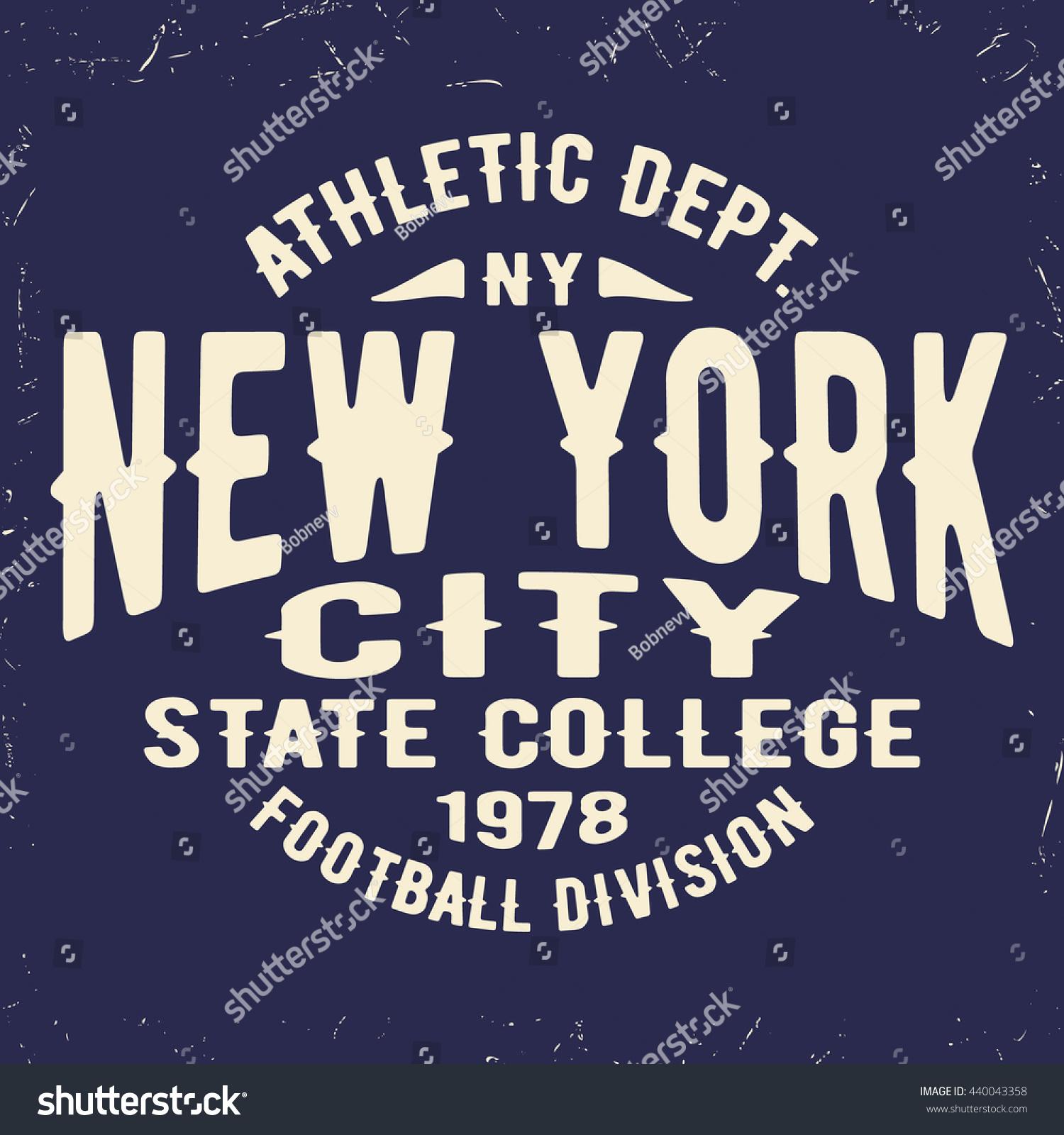 Poster design jeans - T Shirt Print Design New York Vintage Stamp Printing And Badge Applique Label