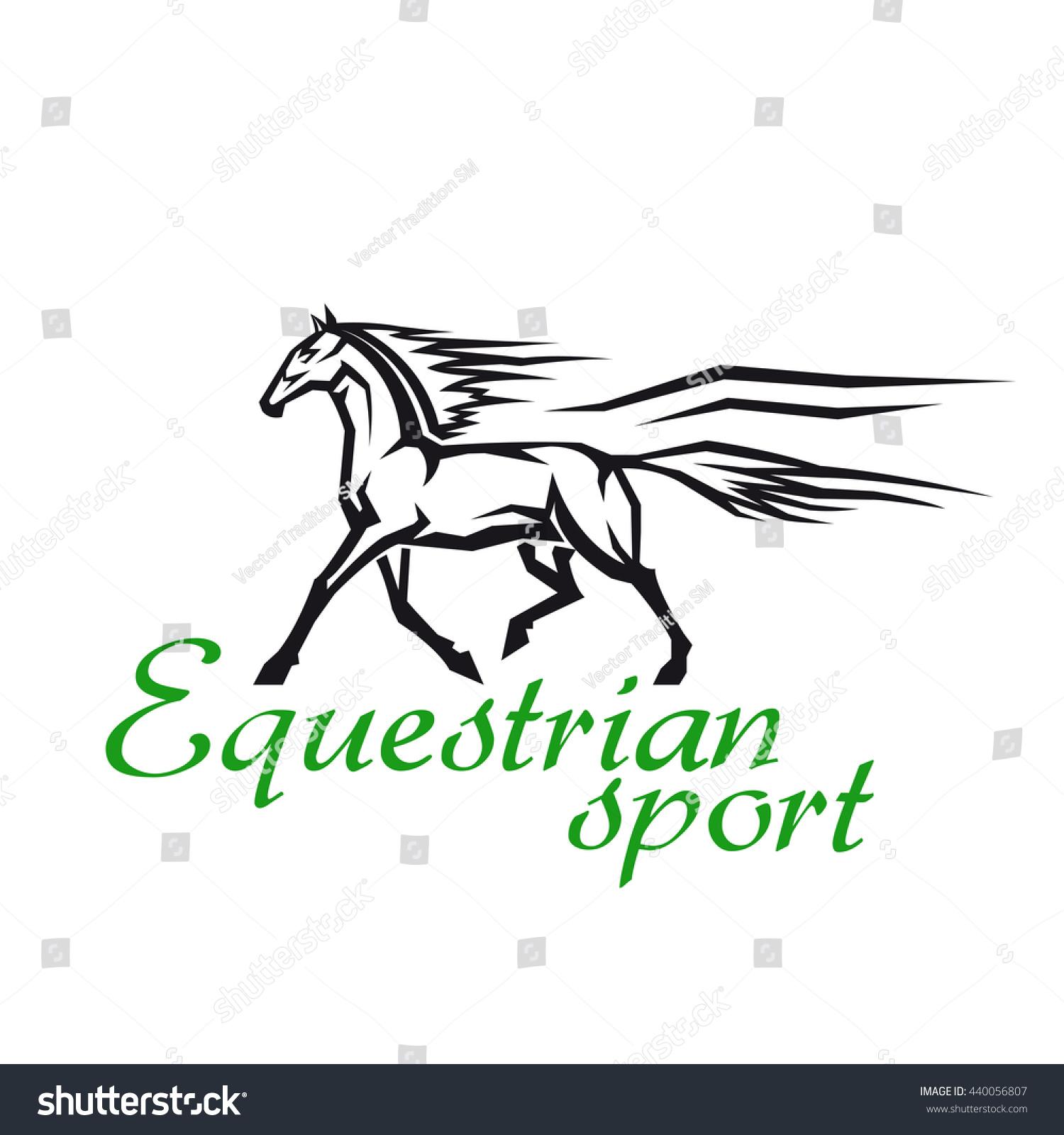 Horse racing gambling symbol equestrian sport stock vector horse racing and gambling symbol for equestrian sport design with galloping horse of a thoroughbred breed buycottarizona