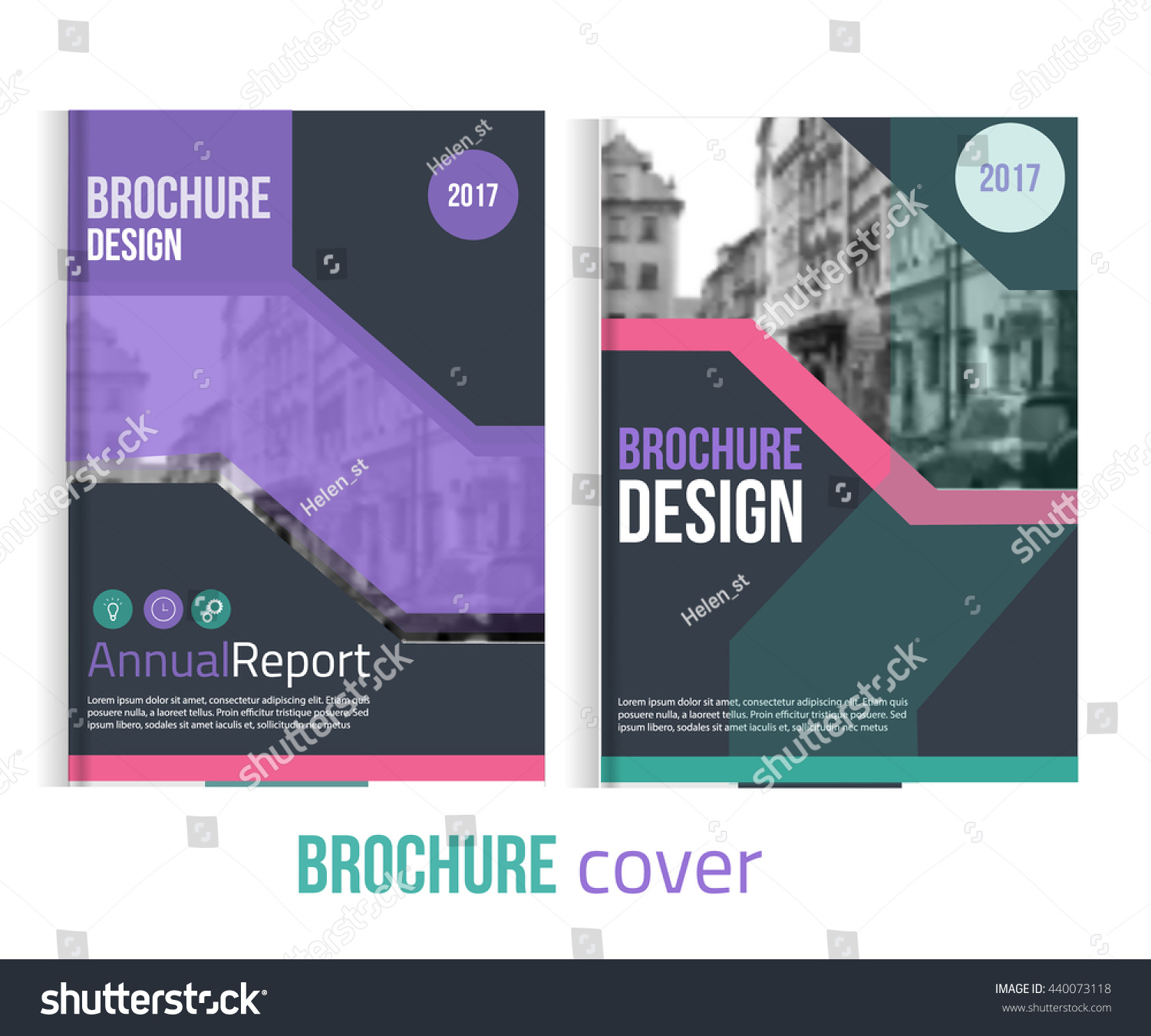 set vector brochure cover templates blured stock vector  set of vector brochure cover templates blured city landscape and lines professional business presentation