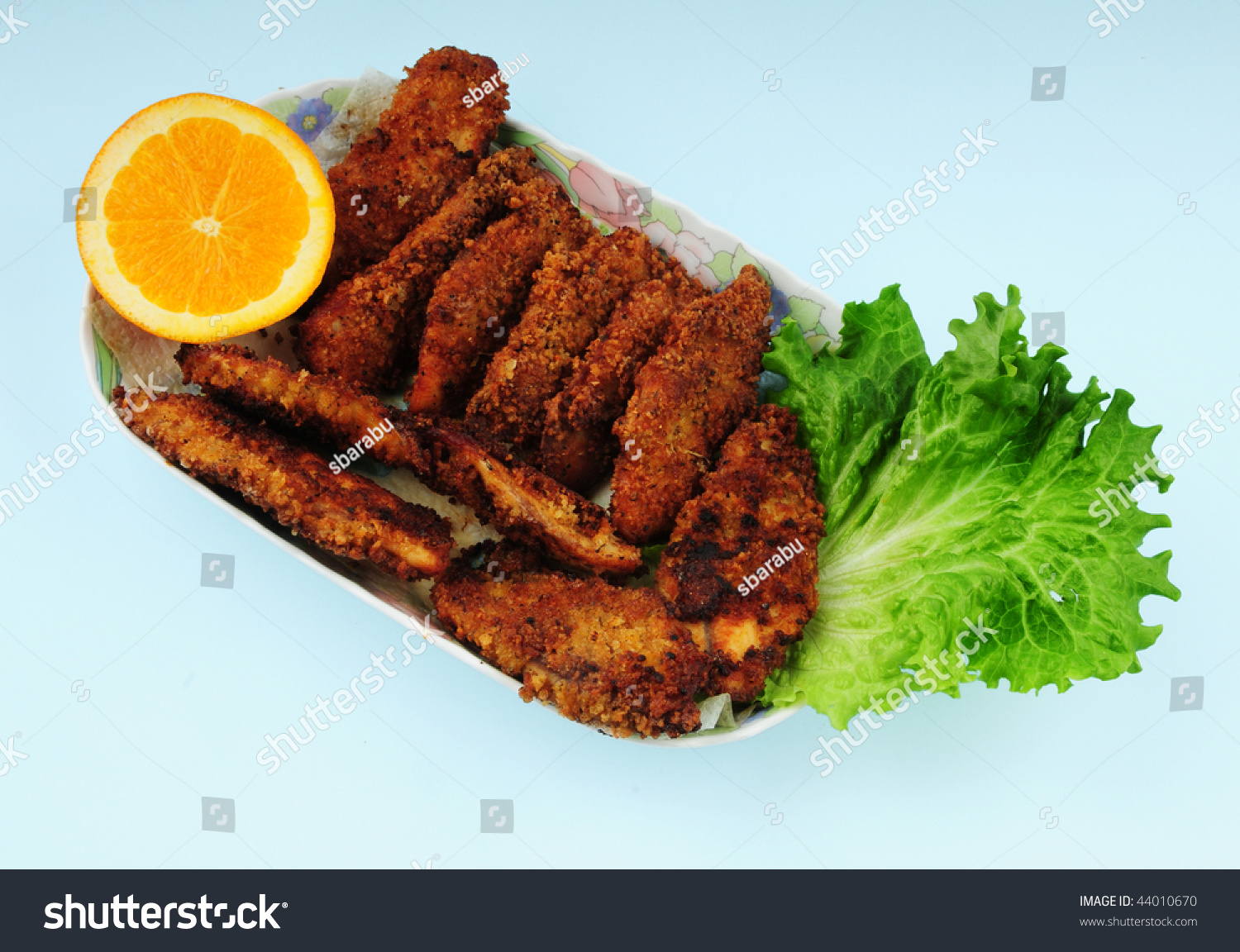 Fried fish with bread crumbs stock photo 44010670 for Fried fish with bread crumbs