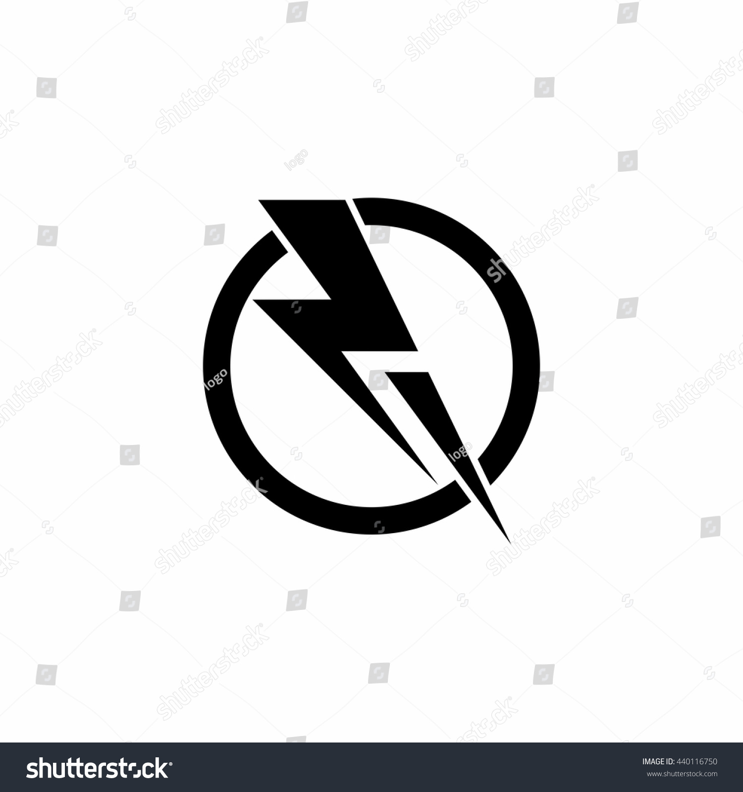 Thunder Power Lightning Circle Run Logo Stock Vector (2018 ... for Lightning Logo In Circle  585eri