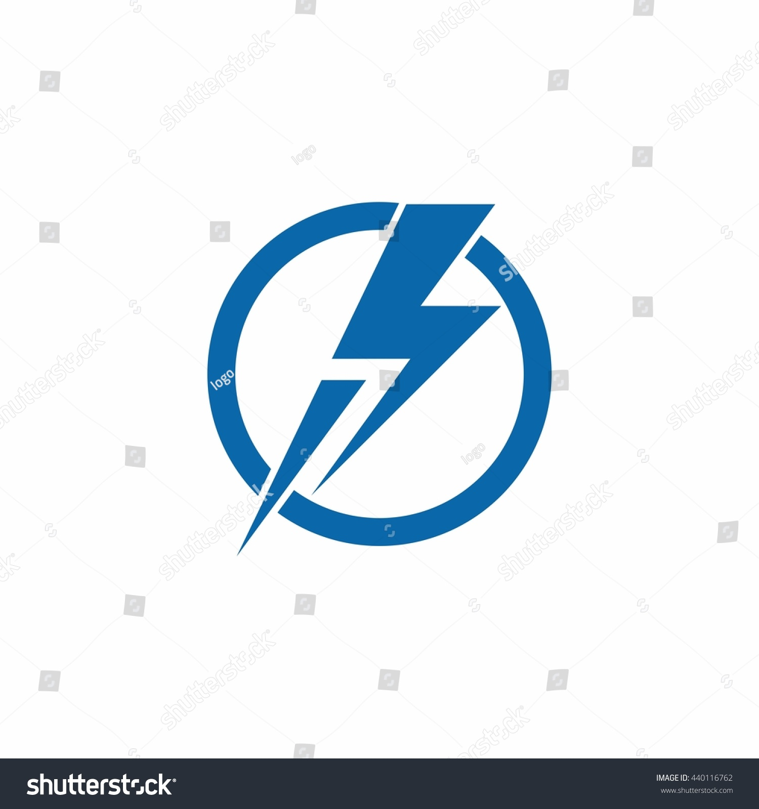 Thunder Power Lightning Circle Run Logo Stock Vector 440116762 ... for Lightning Logo In Circle  53kxo