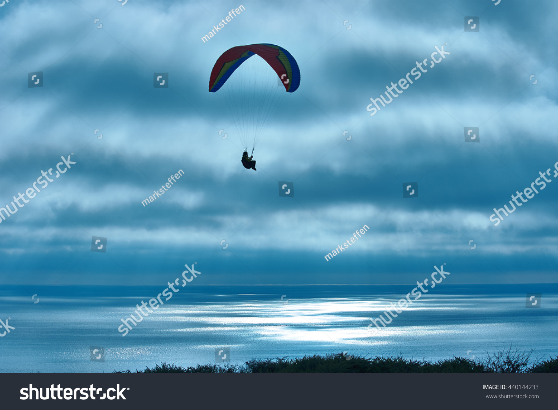 Paragliding Torrey Pines Glider Port La Stock Photo (Edit