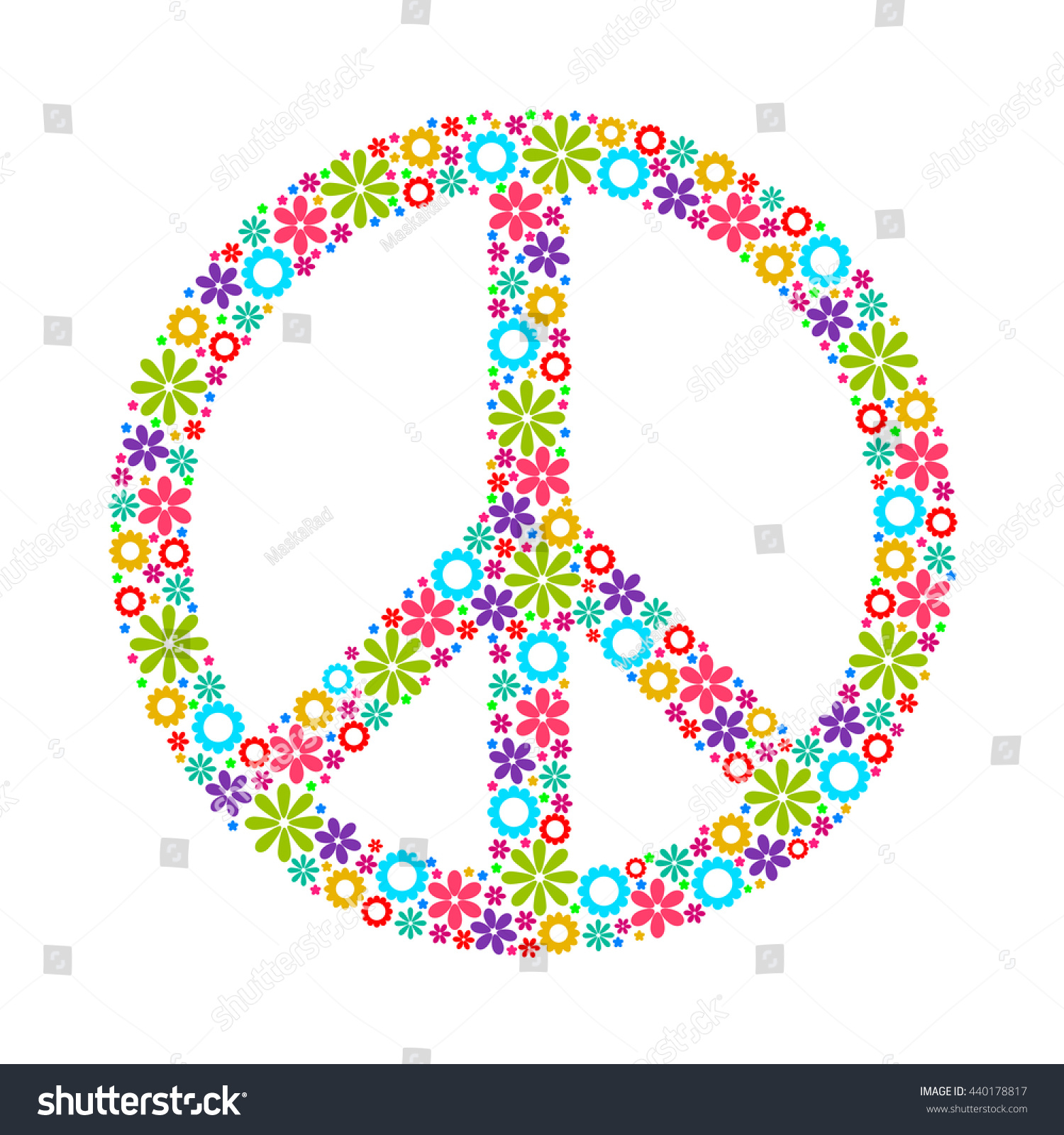 Symbol peace pacific made flowers logo stock vector 440178817 symbol of peace pacific made up of flowers logo vector image biocorpaavc Images