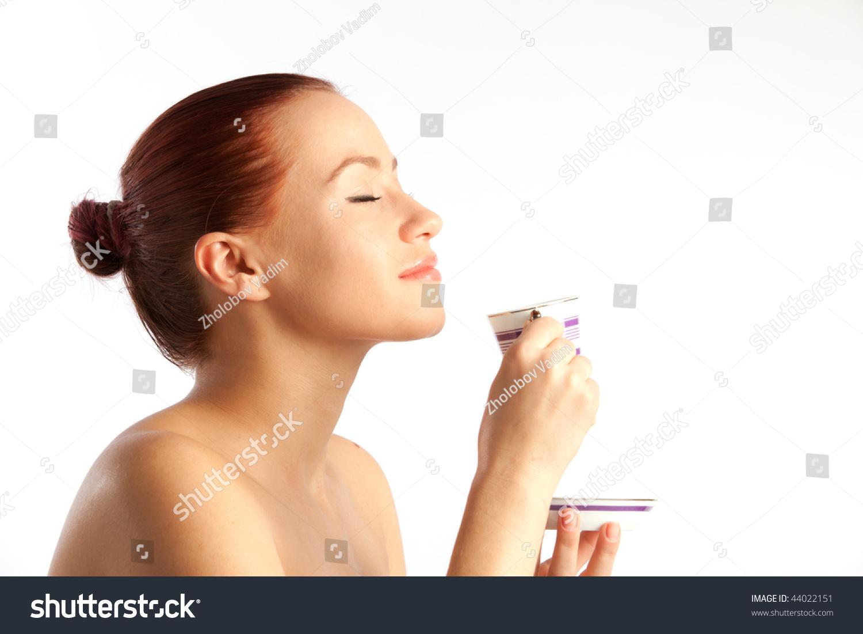 Beautiful Young Naked Green Eyes Woman Stock Photo - Image