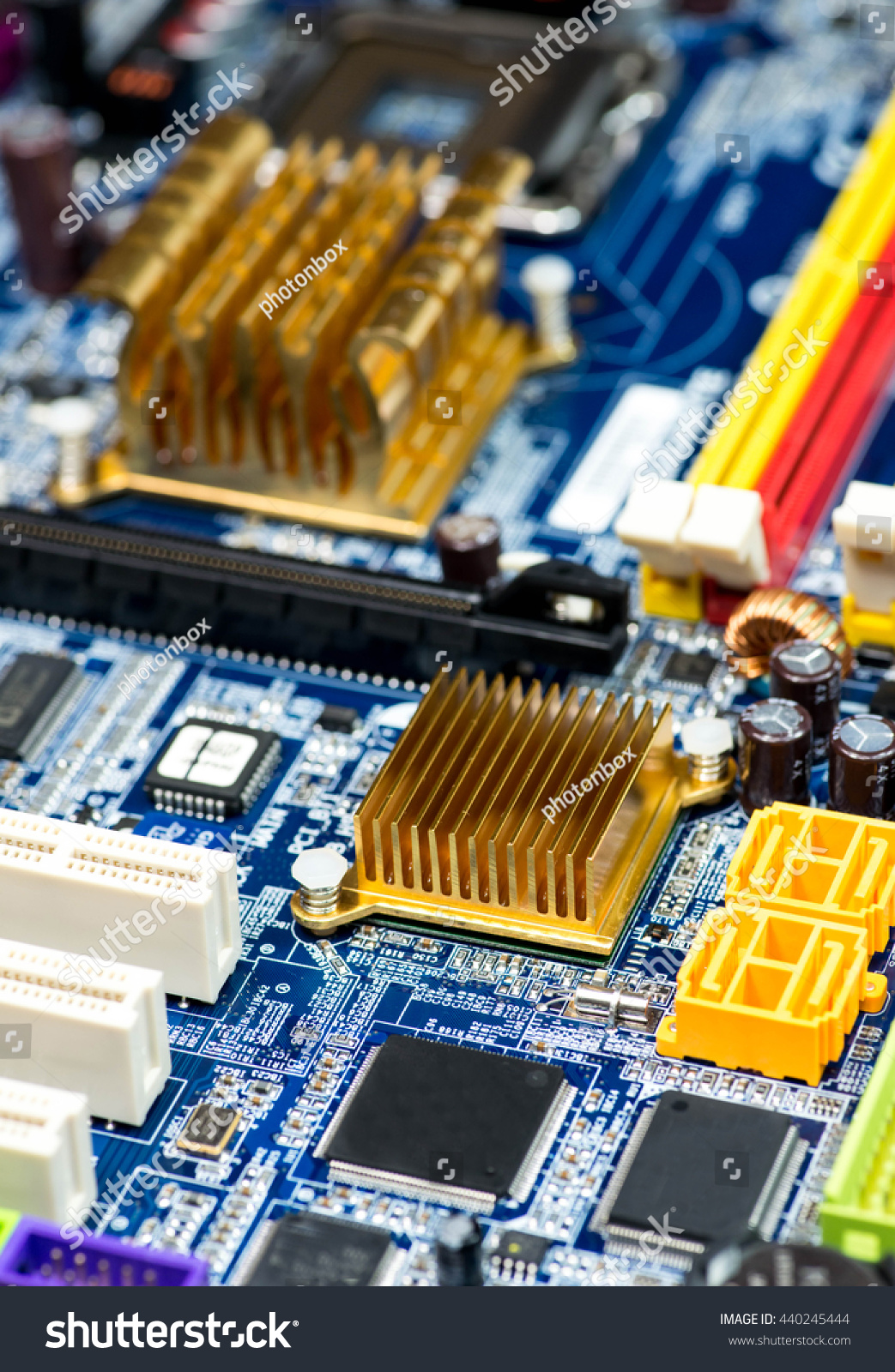 Blue Pcb Board Integrated Circuit Pc Stock Photo Edit Now Closeup Of Parts Motherboard Chip Processor Texture Background