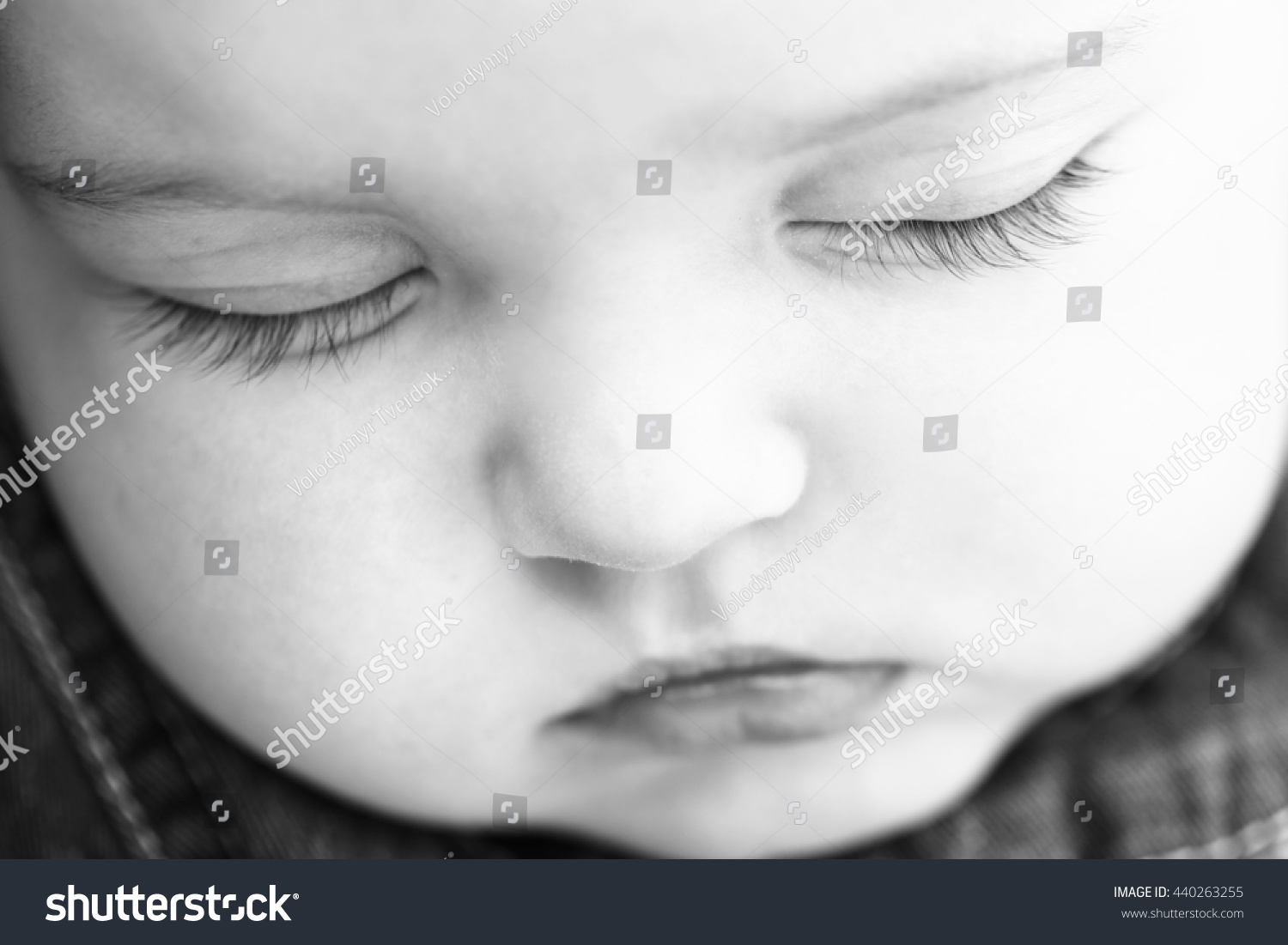 Small Cute Baby Girl Pretty Face Stock Photo Edit Now 440263255