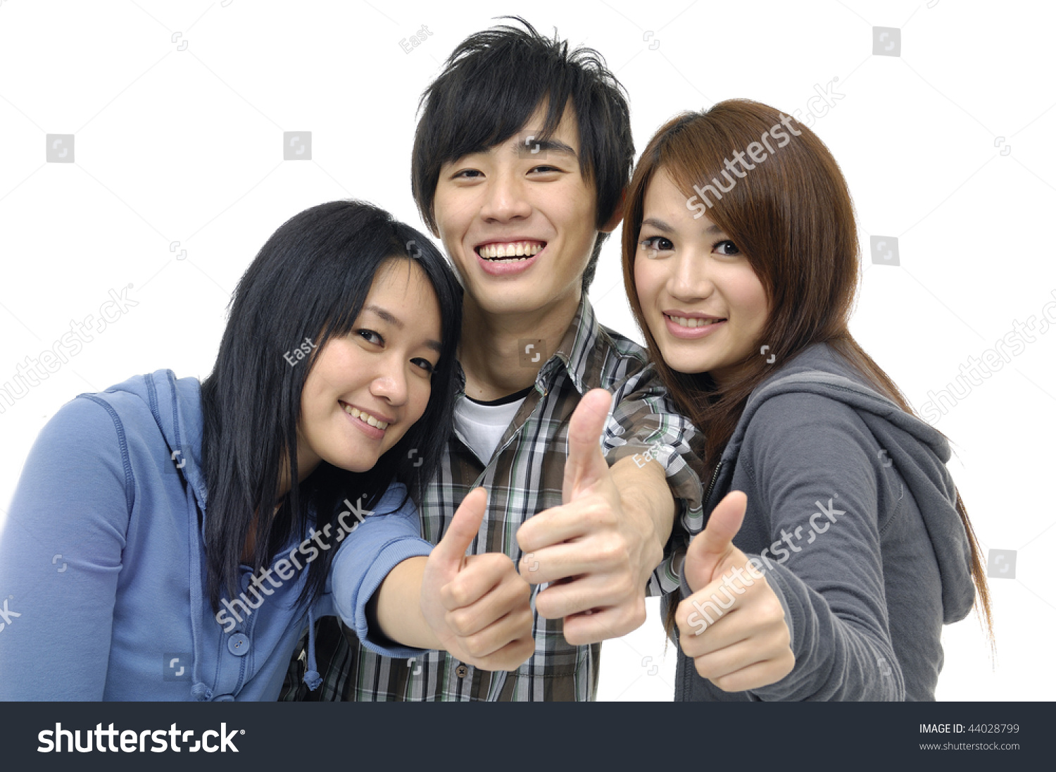 Three Asian Teenagers