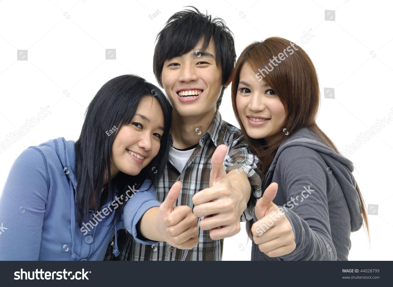 Three asian teenagers