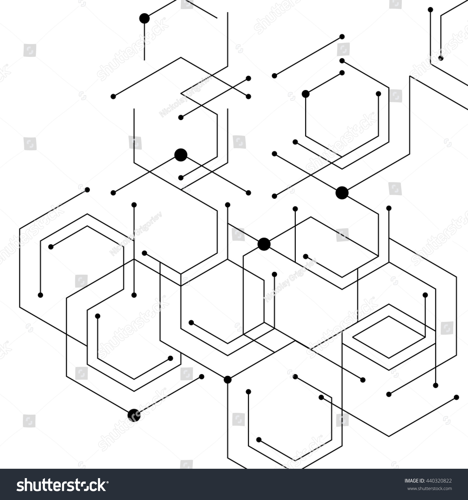 Drawing With Lines And Dots : Geometric lines dots line pattern modern stock vector