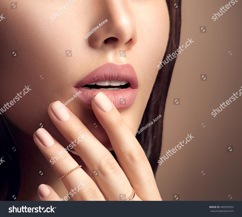 Beauty Fashion Woman Lips Natural Makeup Stock Photo (Edit Now ...