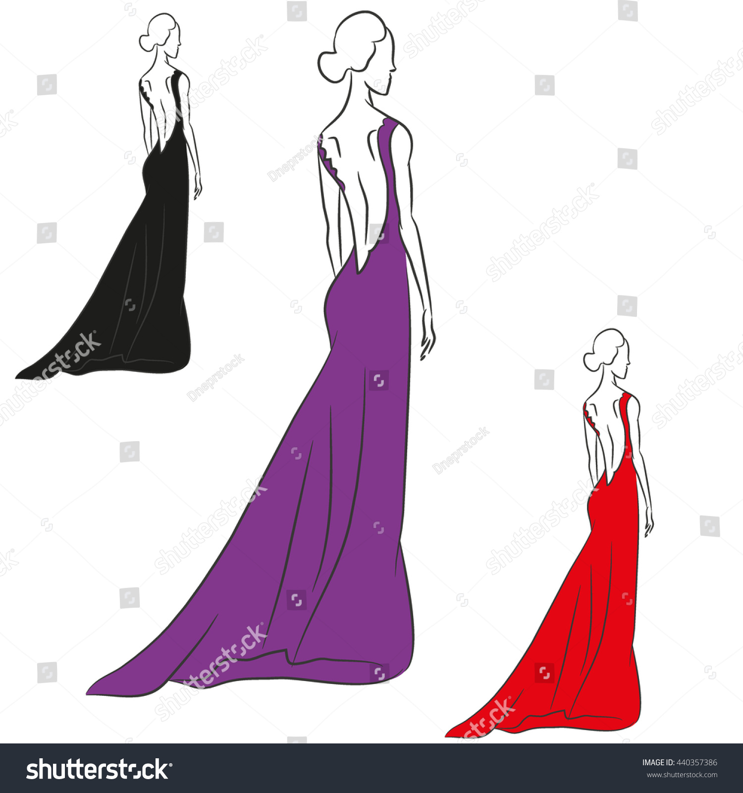 Royalty-free The vector sketch with the young… #440357386 Stock ...