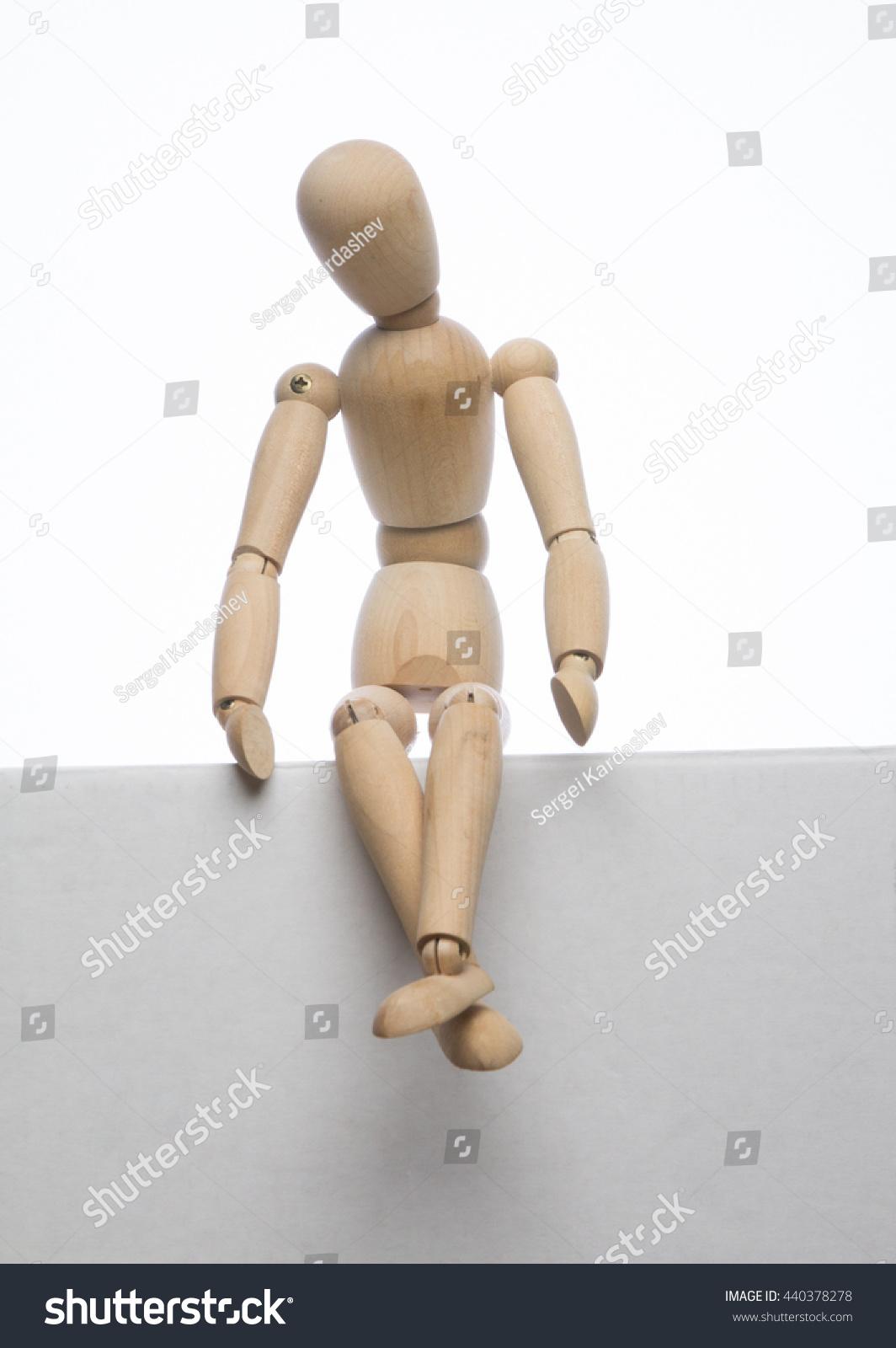 Upset Puppet Sit On Top White Stock Photo Edit Now 440378278