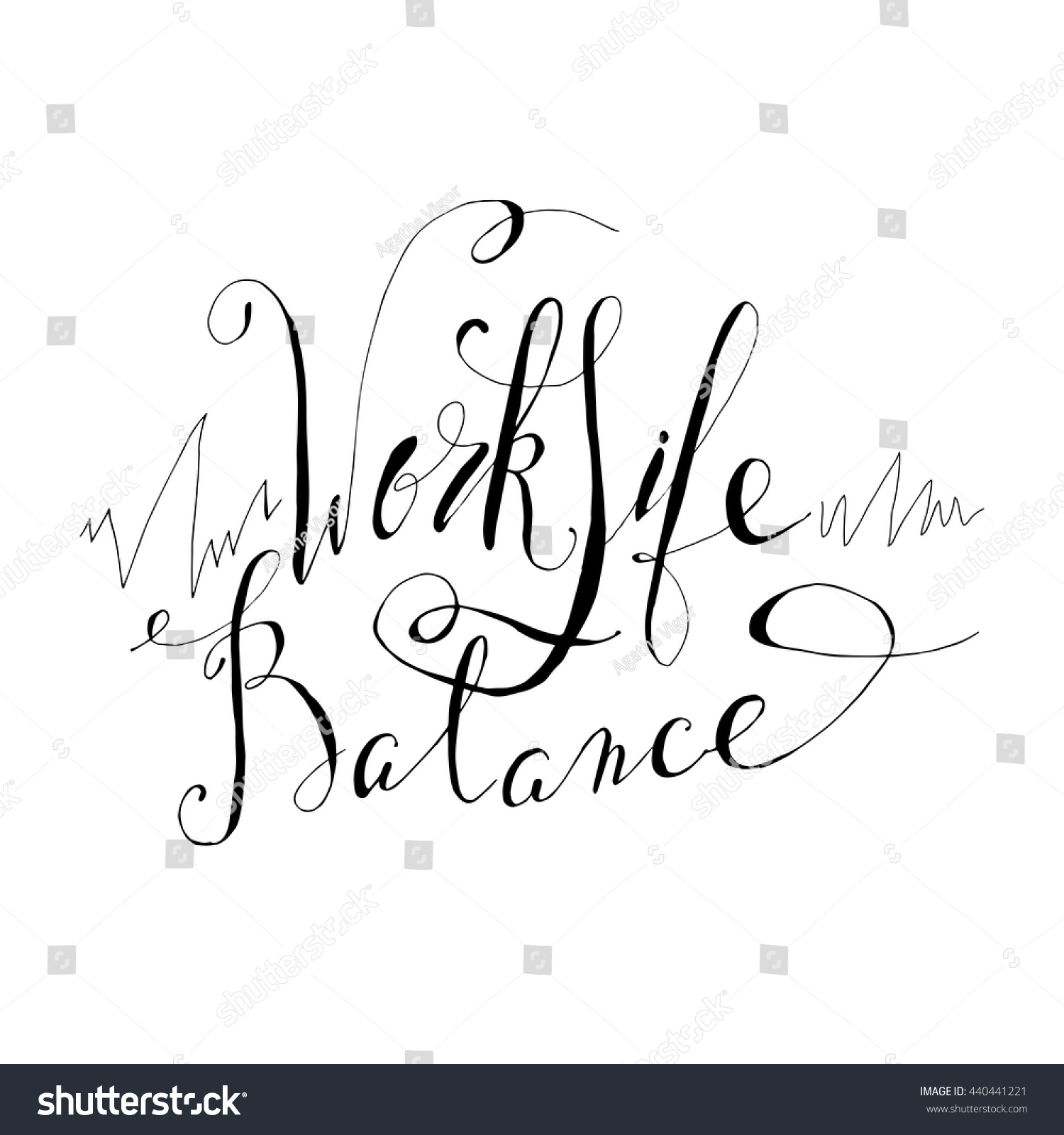 Work Life Balance Quote Vector Card Poster Design Unique Typography Stock Vector 440441221