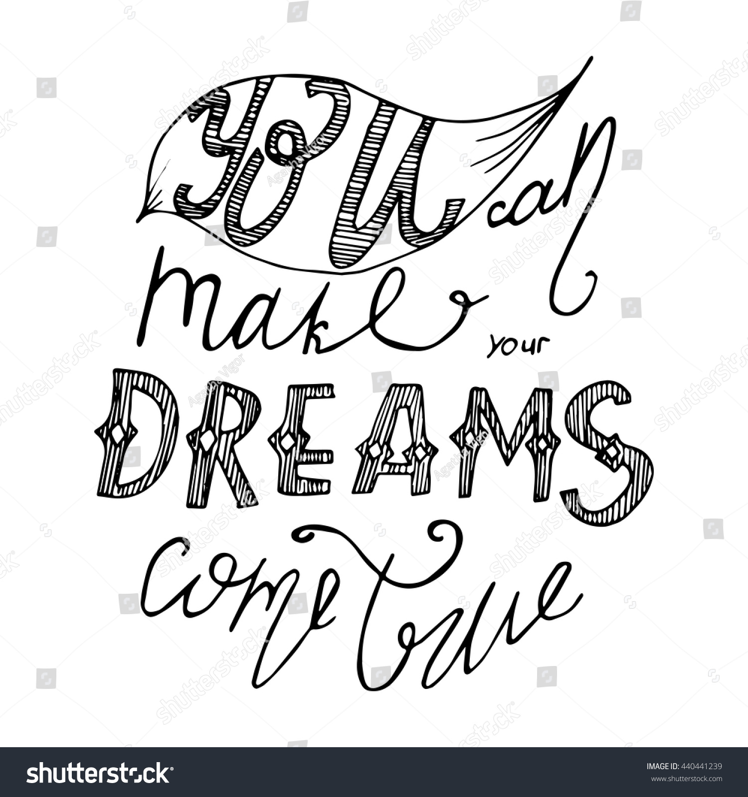 Poster design drawing - Vector Card Or Poster Design With Unique Typography Hand Lettering Phrase You Can Make