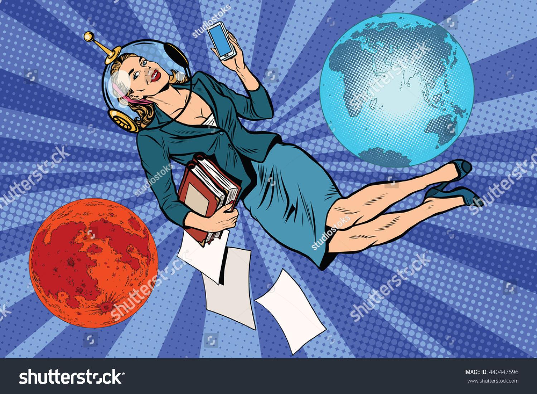 retro girl astronaut - photo #34